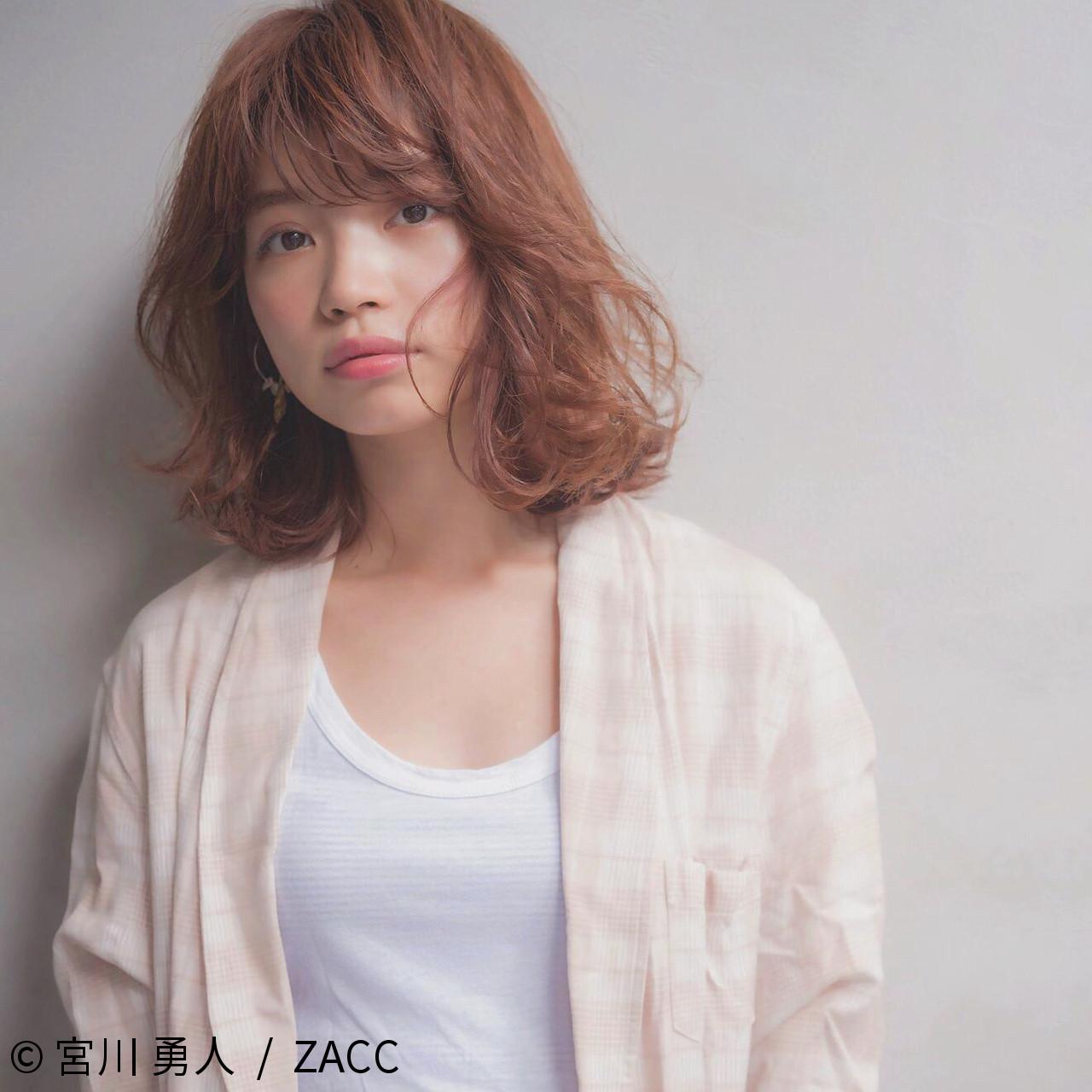 ロブ ナチュラル ボブ 大人かわいい ヘアスタイルや髪型の写真・画像 | 宮川 勇人 / ZACC / ZACC  AO
