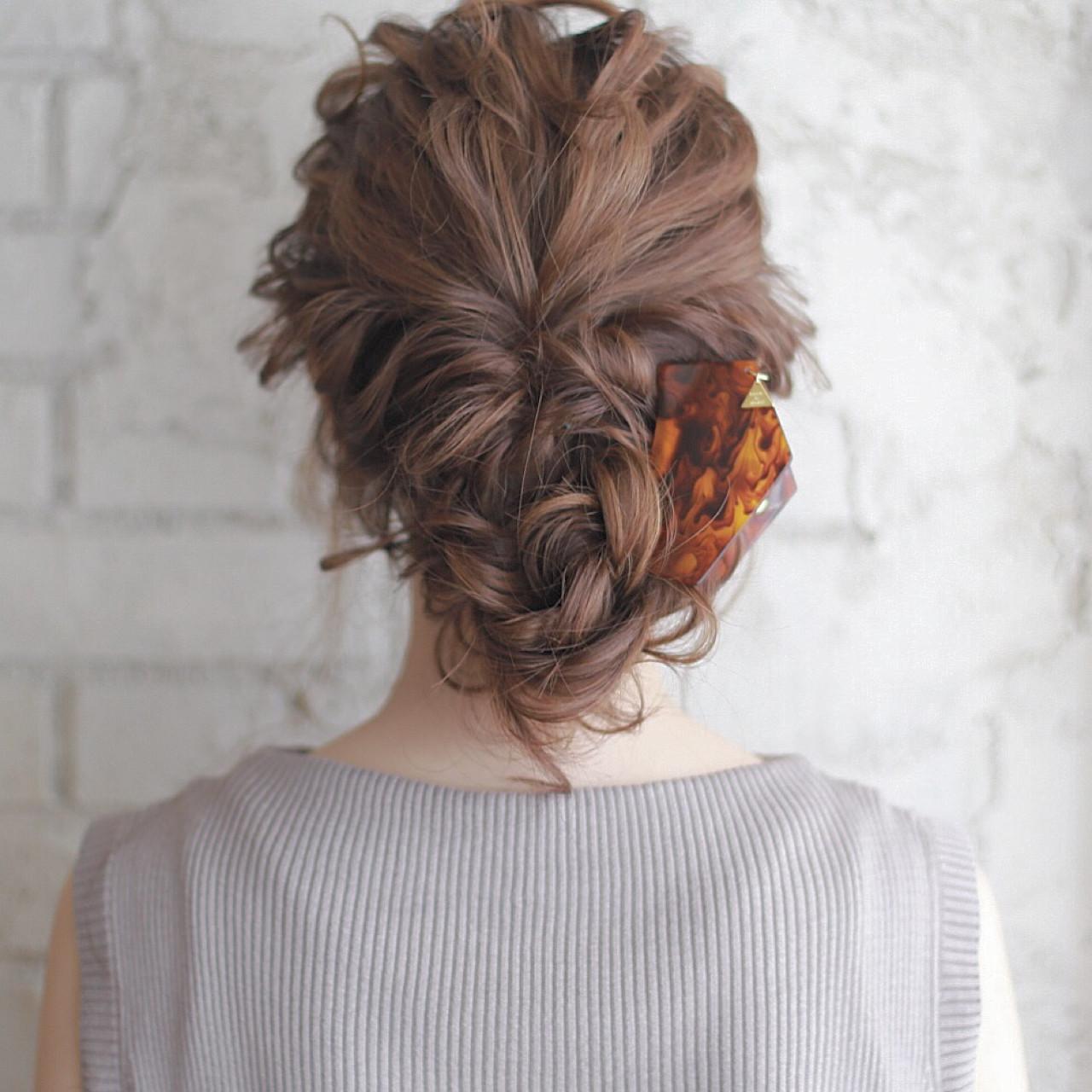 ショート セミロング ヘアアレンジ 夏 ヘアスタイルや髪型の写真・画像