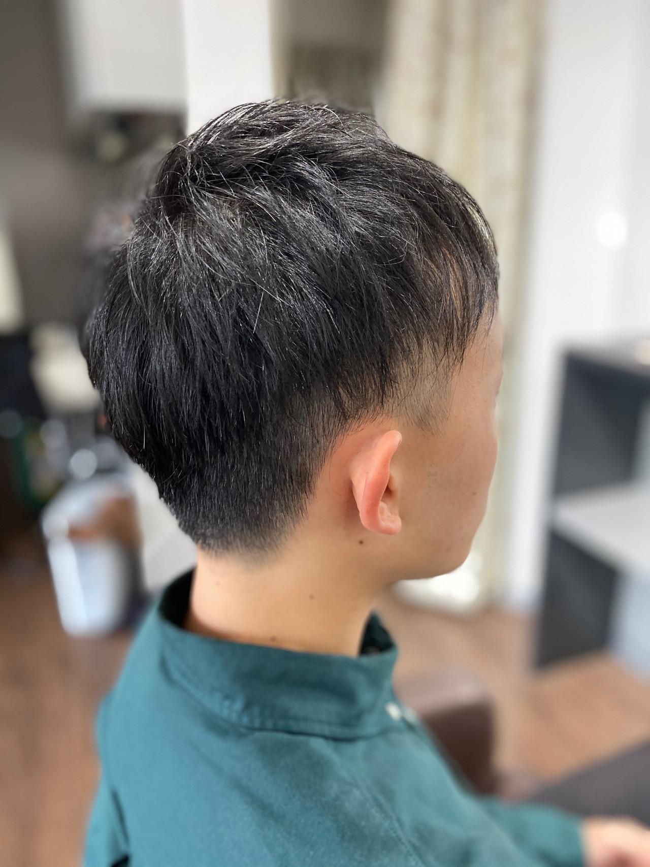 ツーブロック メンズショート メンズカット ストリート ヘアスタイルや髪型の写真・画像   エイ / aime