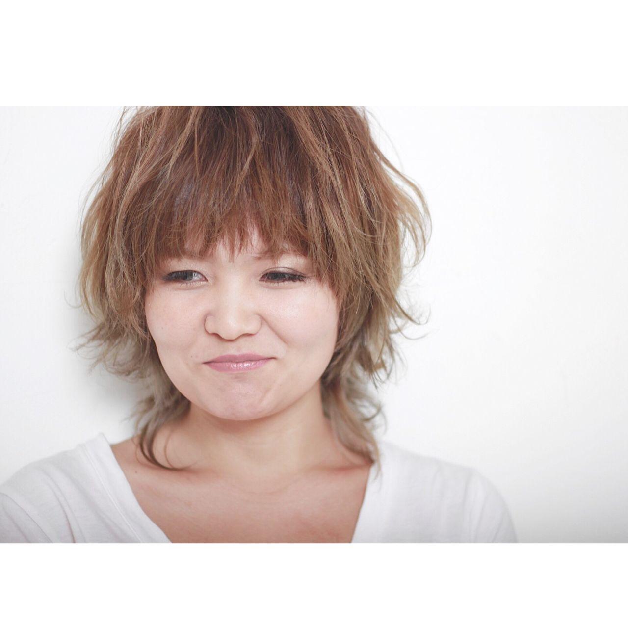マッシュ ウルフカット ショート 外国人風 ヘアスタイルや髪型の写真・画像