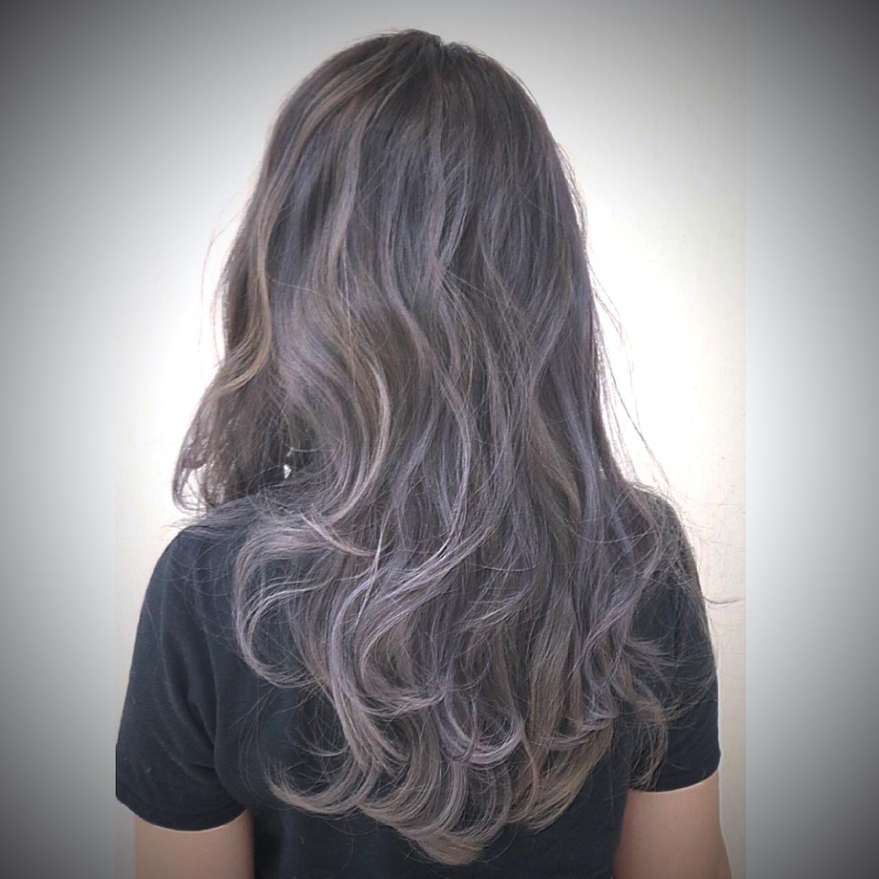 ハイトーン ロング ナチュラル グラデーションカラー ヘアスタイルや髪型の写真・画像 | RUMINA //高田ゆみこ / Rumina