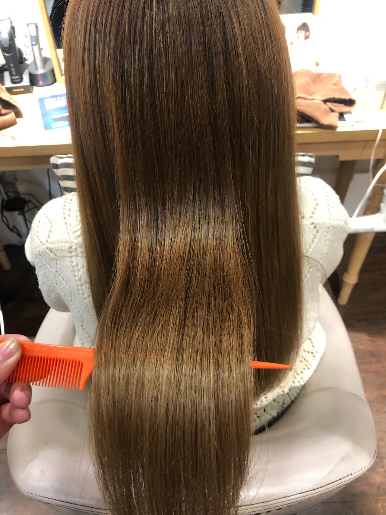 ツヤ髪 ストレート ロング 髪質改善トリートメント ヘアスタイルや髪型の写真・画像