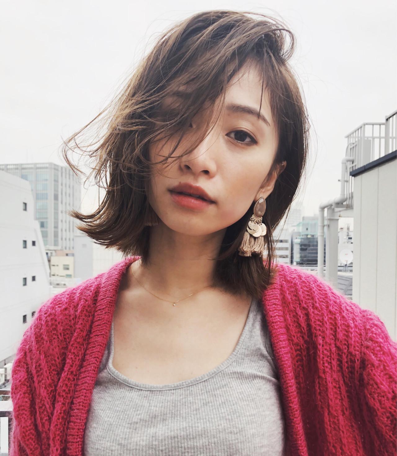 黒髪 ボブ ナチュラル 暗髪 ヘアスタイルや髪型の写真・画像 | 磯田 基徳 / siki