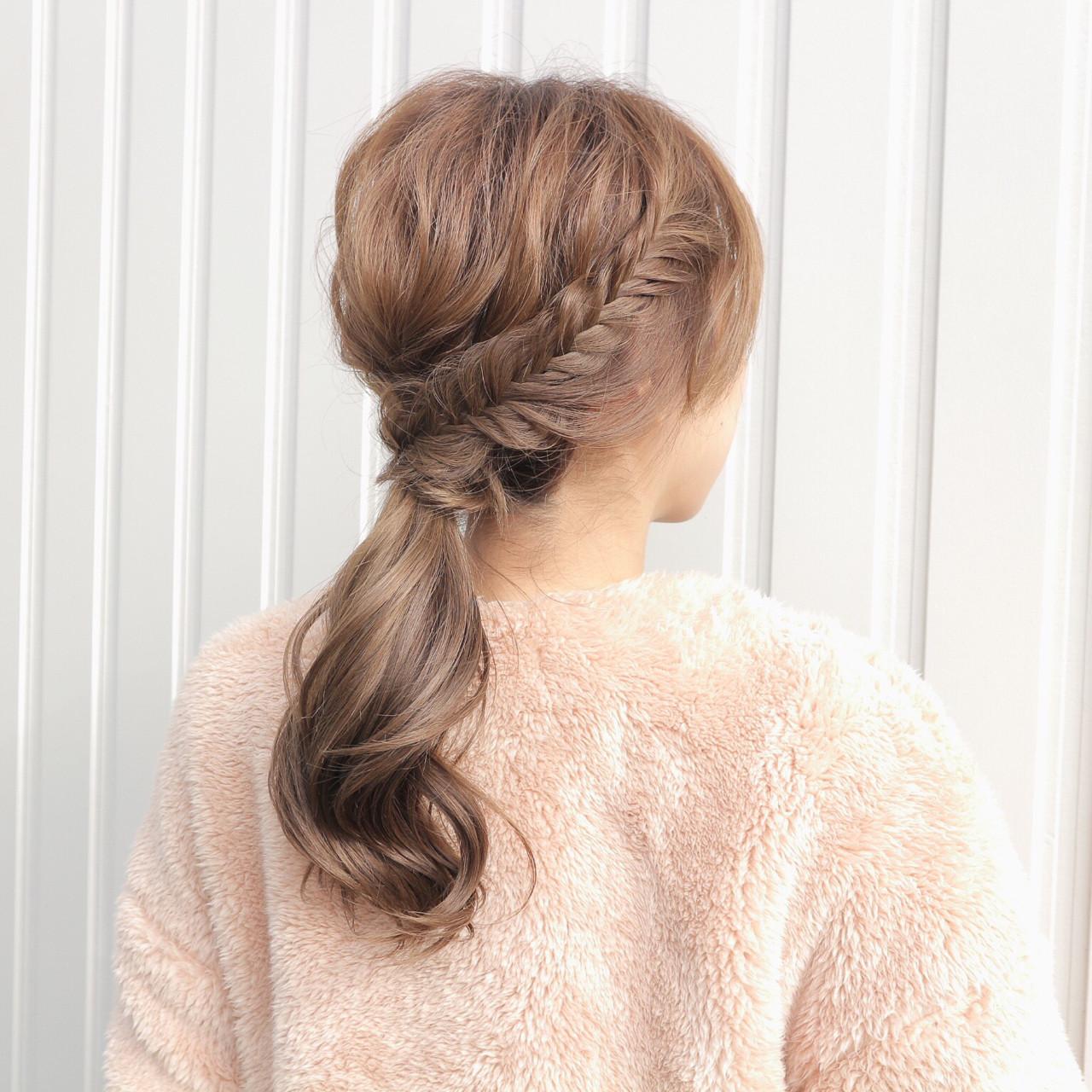 ゆるふわ セミロング 大人女子 フィッシュボーン ヘアスタイルや髪型の写真・画像   桑村亮太/CALIF hair store / 函館/CALIF hair store/キャリフ ヘアストア