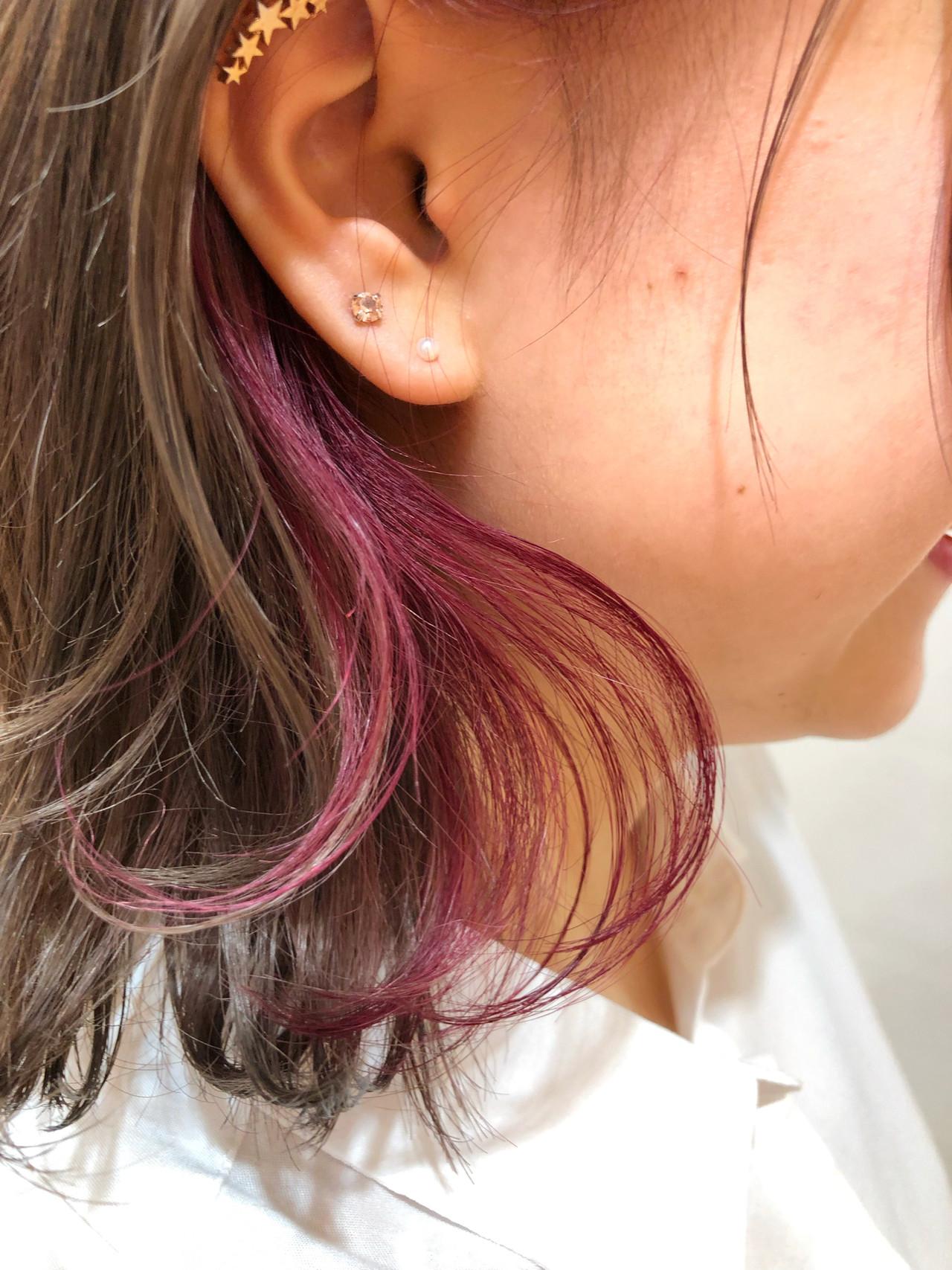 大人かわいい ピンク ボブ 外ハネ ヘアスタイルや髪型の写真・画像 | 出塩 浩之 / MORIO FROM LONDON さいたま新都心