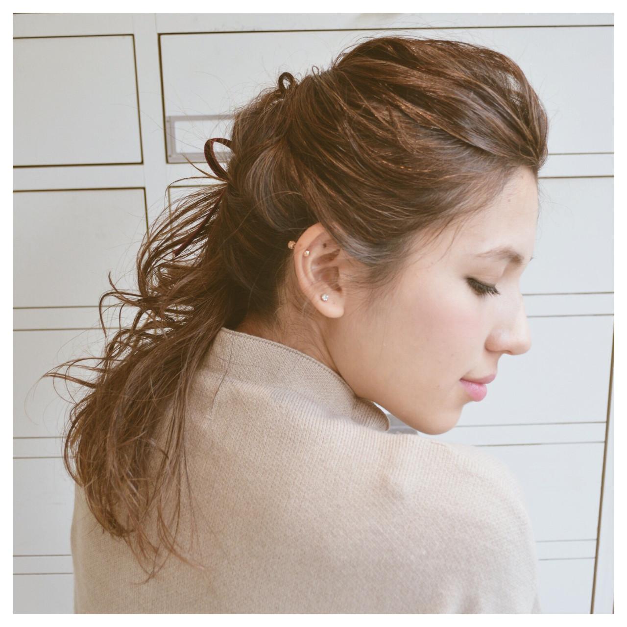 外国人風 簡単ヘアアレンジ ショート 大人かわいい ヘアスタイルや髪型の写真・画像