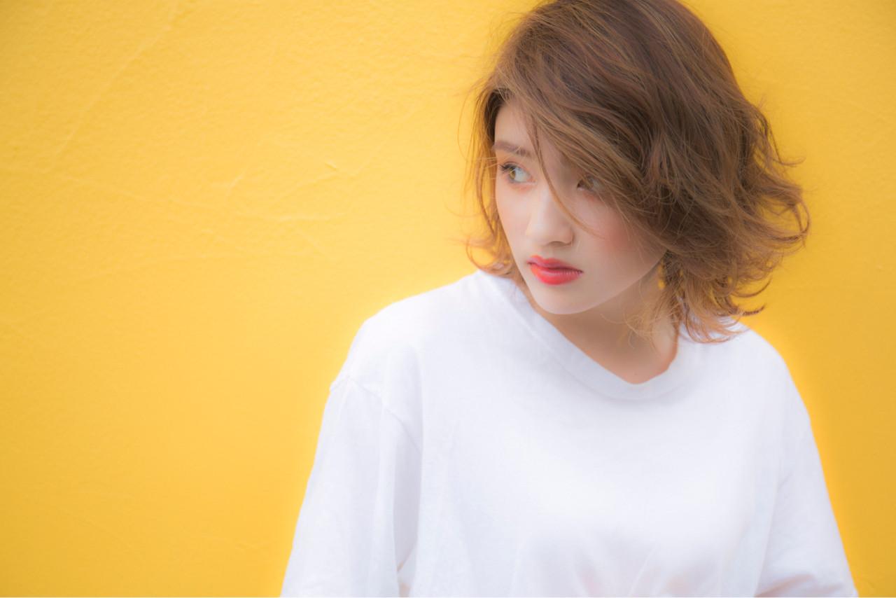 大人かわいい ストリート 外国人風 ハイライト ヘアスタイルや髪型の写真・画像
