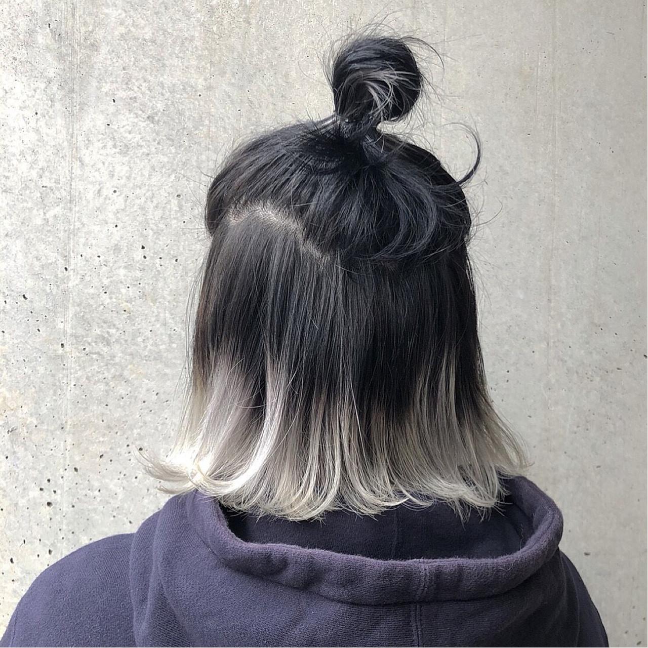 ブリーチ ヘアアレンジ ストリート ボブ ヘアスタイルや髪型の写真・画像