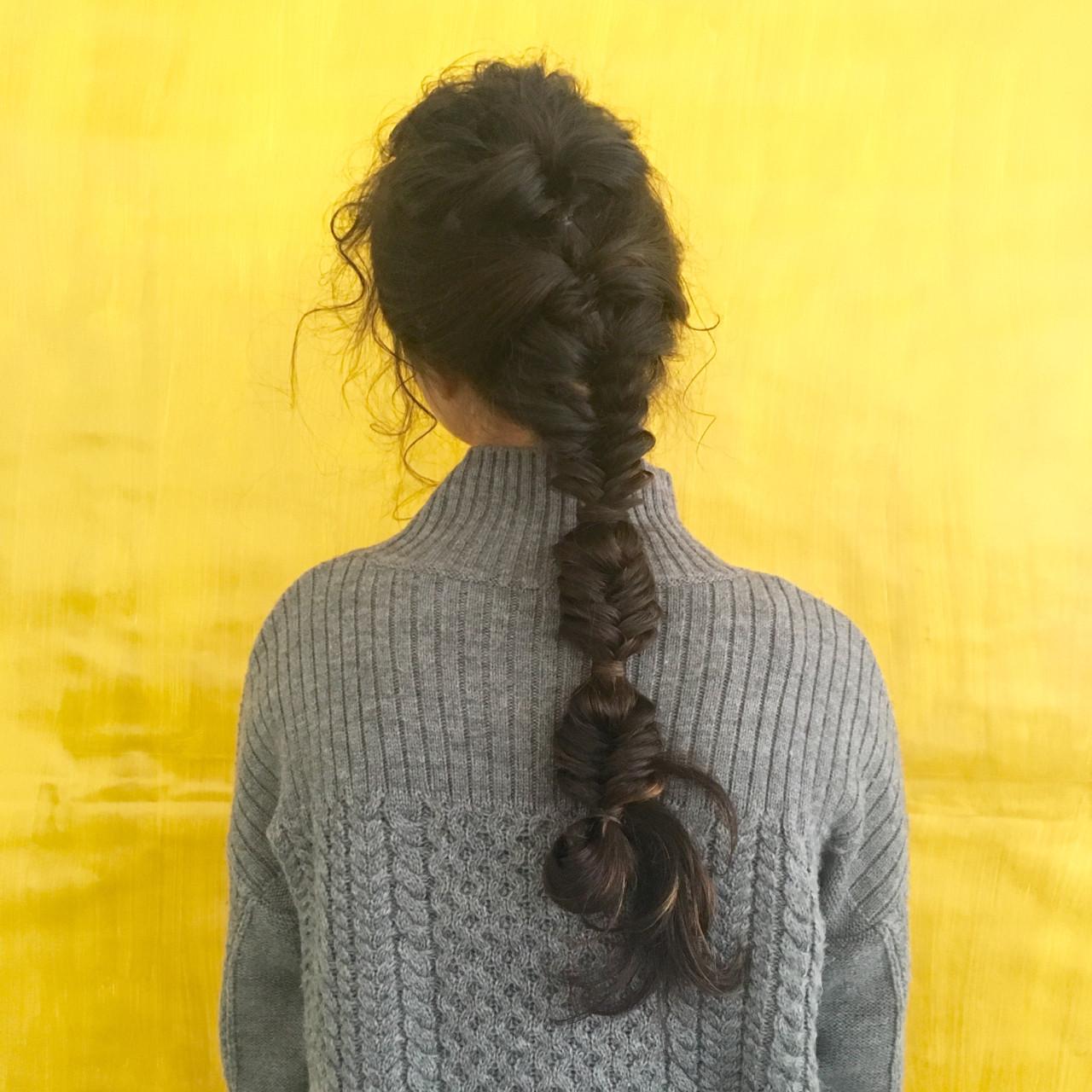 後れ毛が可愛い♡フィッシュボーンarrange