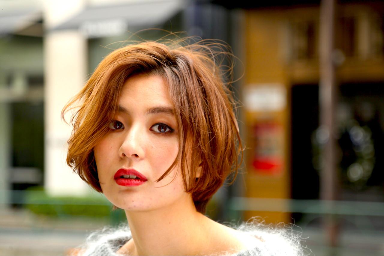 上品 エレガント ショート ショートボブ ヘアスタイルや髪型の写真・画像 | KAE / NORA HAIR SALON