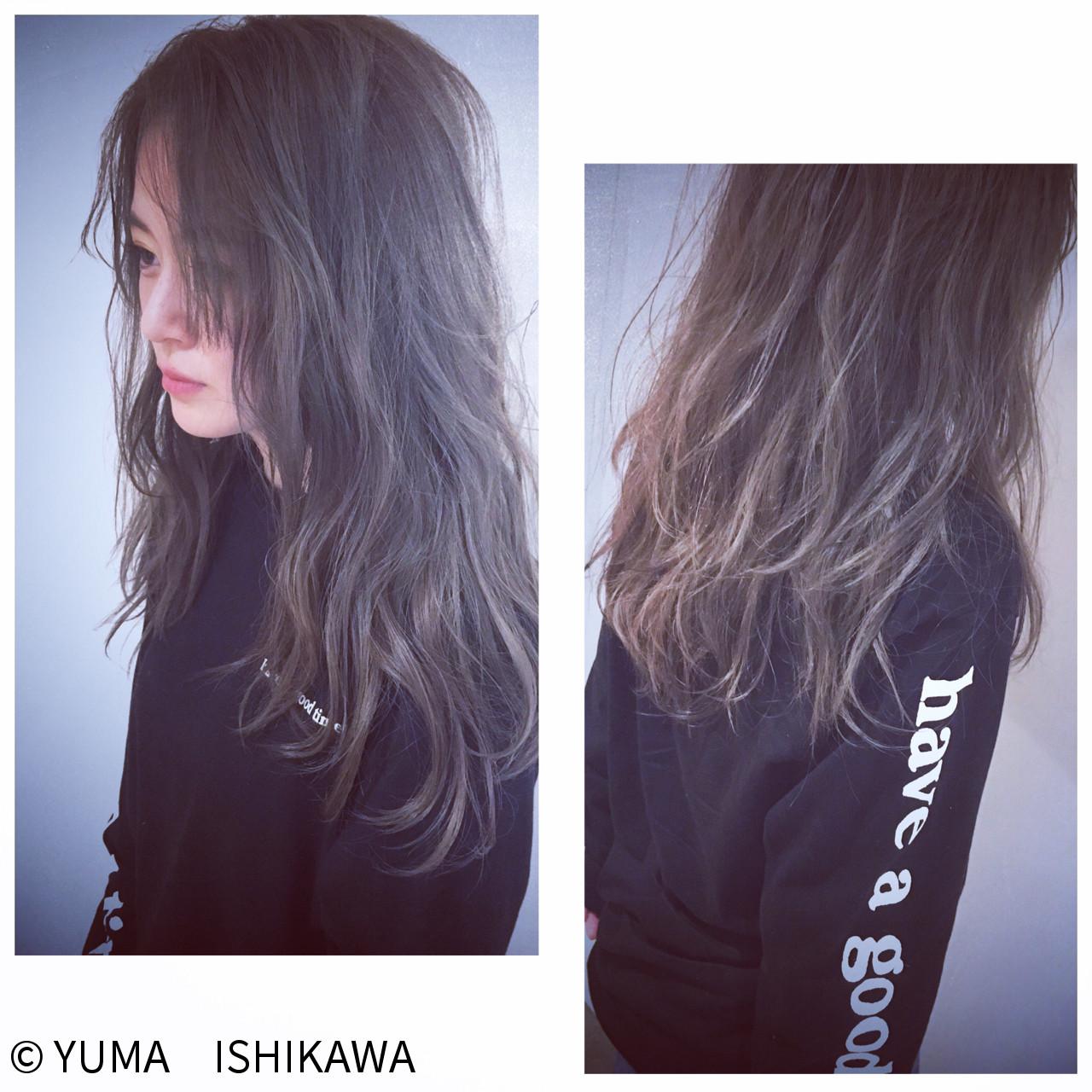 外国人風カラー ストリート グラデーションカラー アッシュグレージュ ヘアスタイルや髪型の写真・画像 | NORA / YUMA ISHIKAWA / NORA HAIR SALON