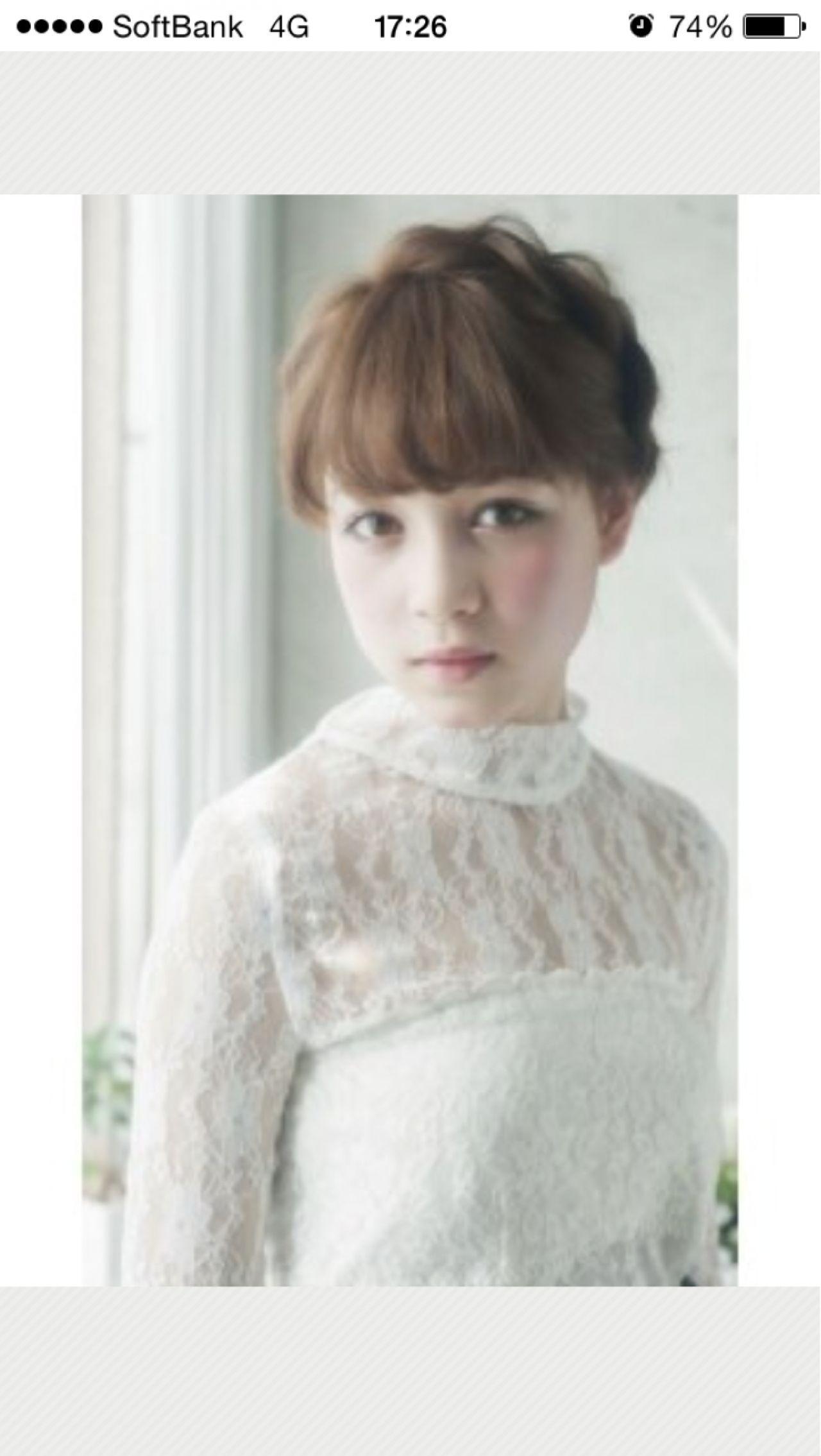 フェミニン ショート モテ髪 簡単ヘアアレンジ ヘアスタイルや髪型の写真・画像