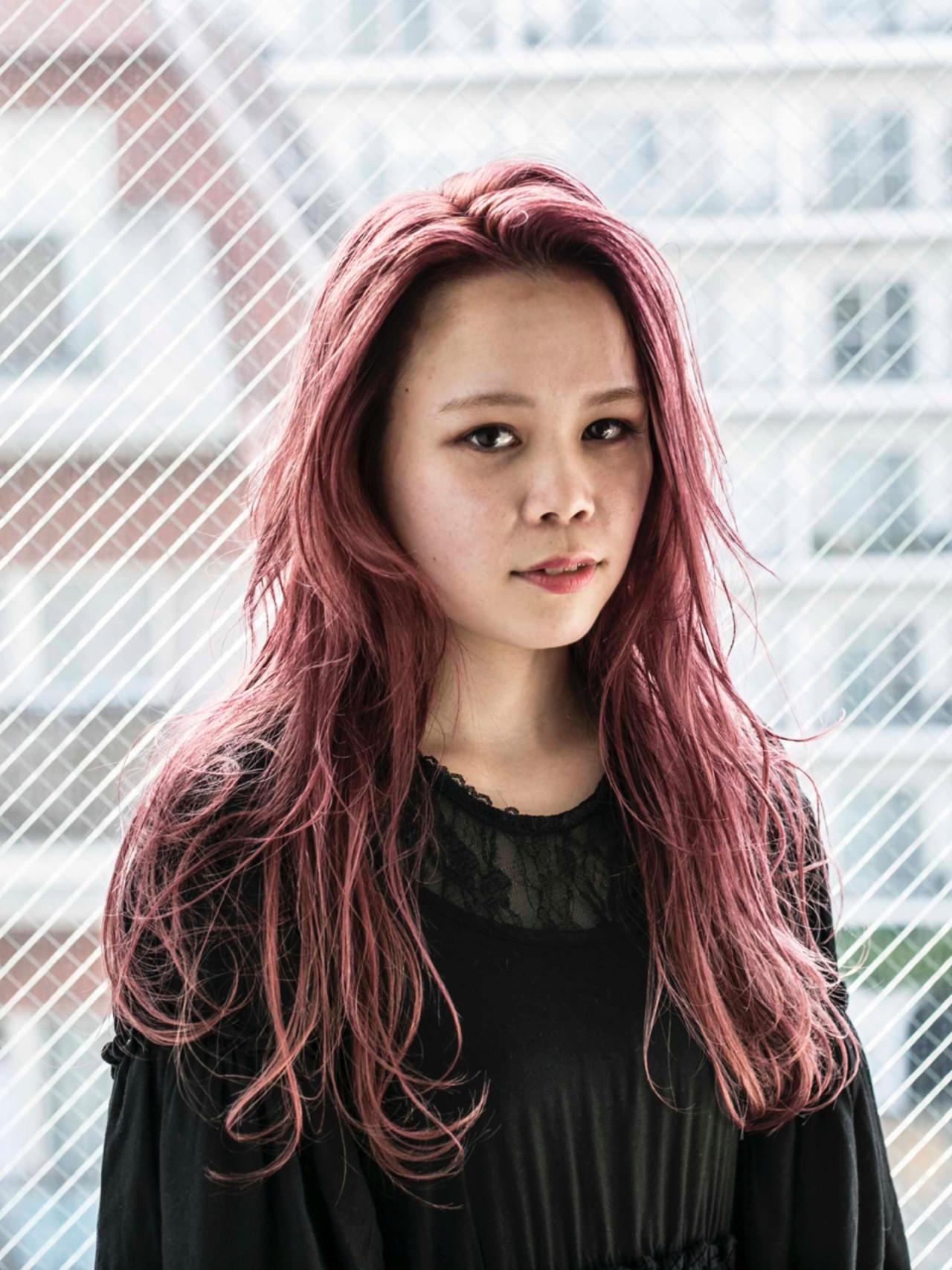 ガーリー ラベンダーピンク ピンク ピンクアッシュ ヘアスタイルや髪型の写真・画像 | 松尾 芳晴 / AO