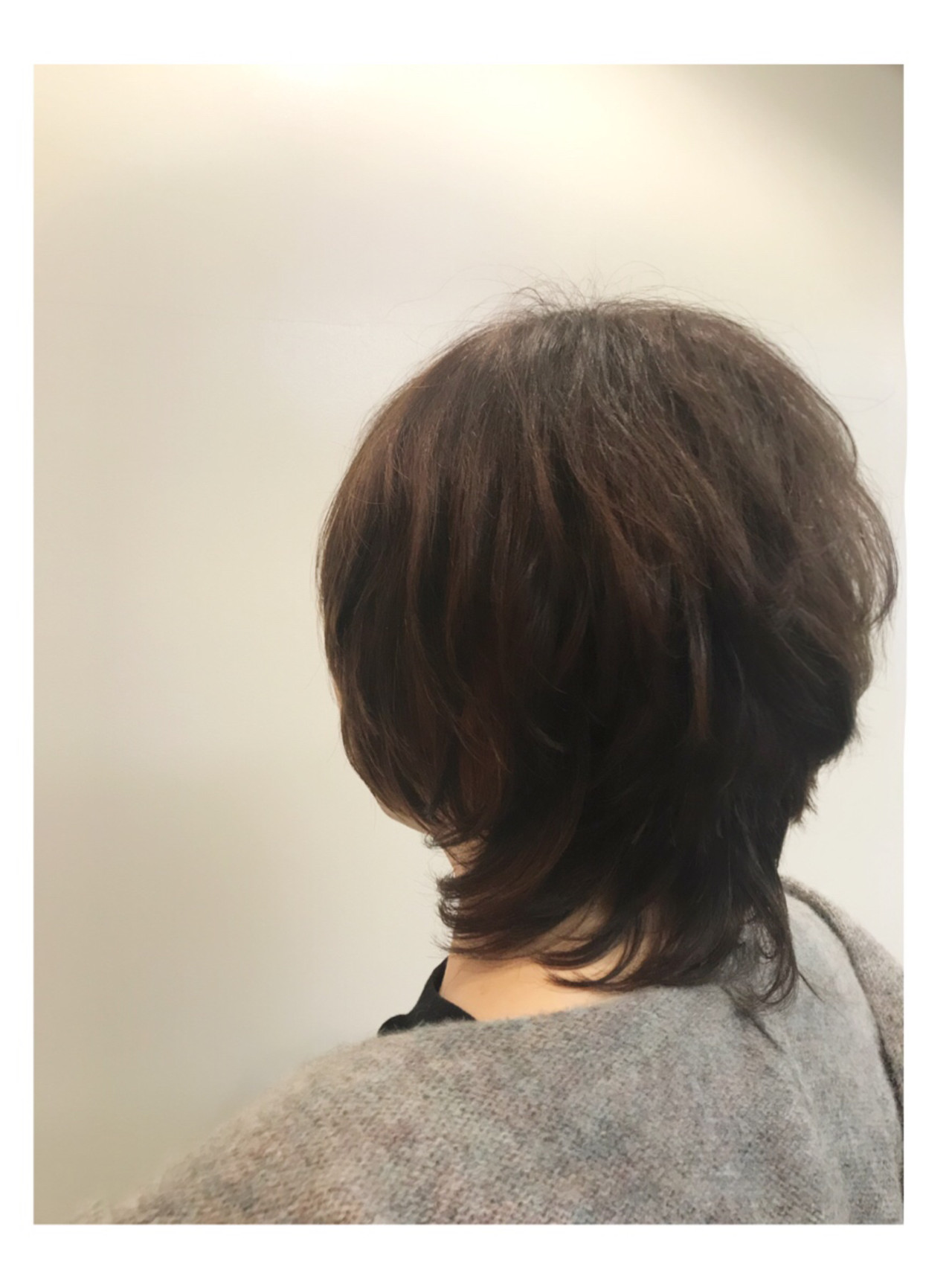 ナチュラルウルフ マッシュショート ナチュラル ショート ヘアスタイルや髪型の写真・画像