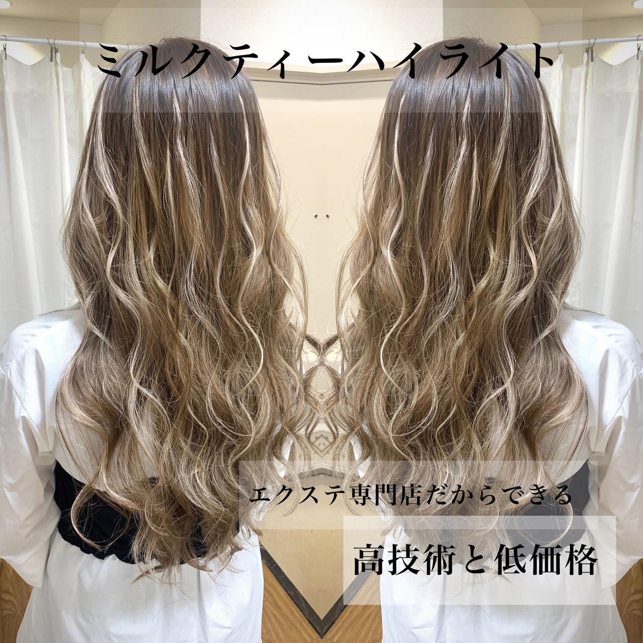 エクステ グラデーションカラー ロング ギャル ヘアスタイルや髪型の写真・画像 | 島川令 / エクステ専門店R