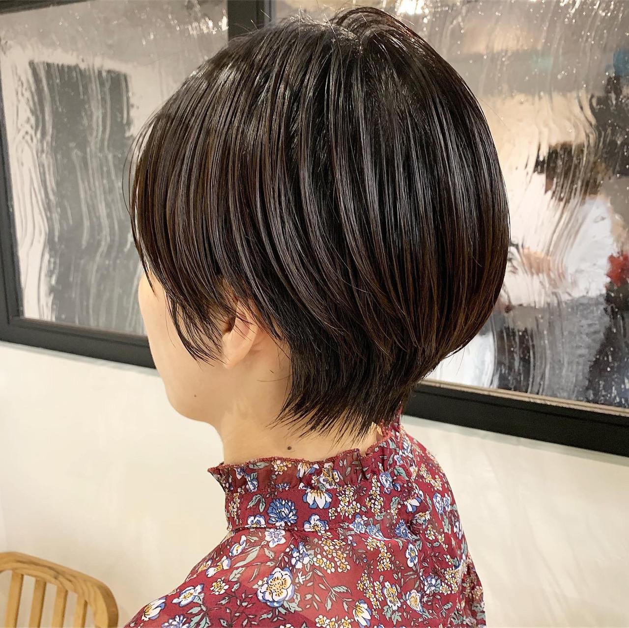 モード スポーツ 黒髪 ショート ヘアスタイルや髪型の写真・画像