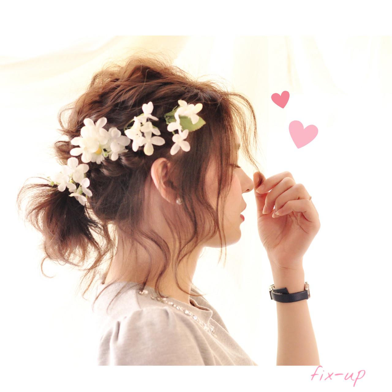 簡単ヘアアレンジ 外国人風 アッシュ フェミニン ヘアスタイルや髪型の写真・画像