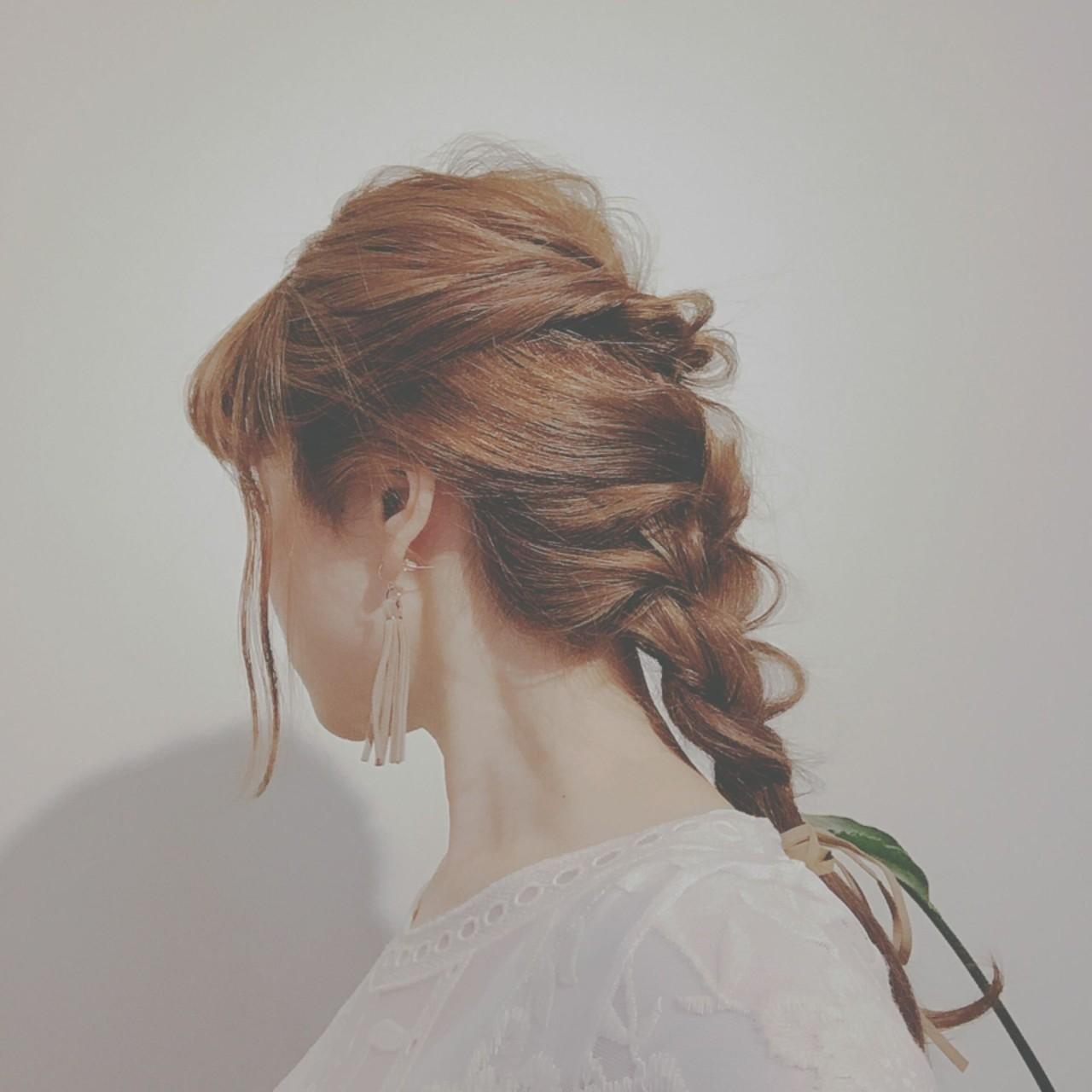 ロング ヘアアレンジ ゆるふわ アウトドア ヘアスタイルや髪型の写真・画像
