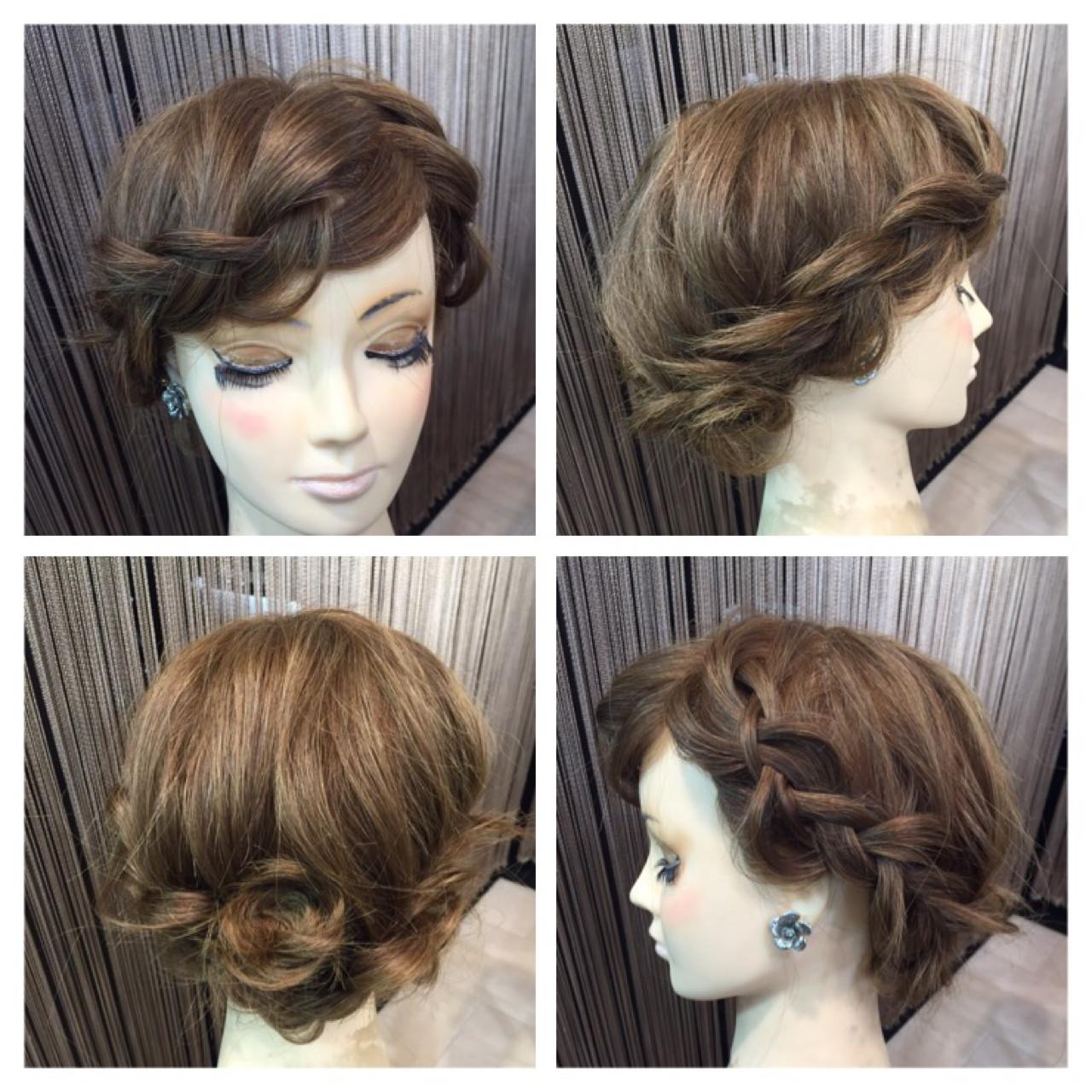 ゆるふわ 裏編み込み 波ウェーブ 簡単ヘアアレンジ ヘアスタイルや髪型の写真・画像