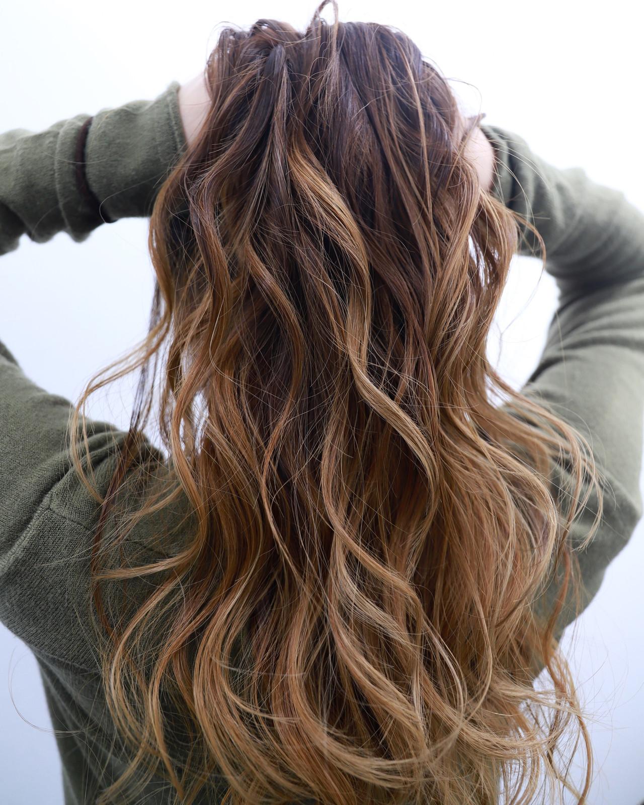 ストリート ヘアアレンジ バレイヤージュ ロング ヘアスタイルや髪型の写真・画像 | 今西優 / scissors