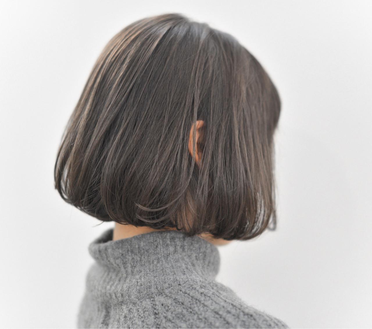 ボブ アッシュ 冬 外国人風 ヘアスタイルや髪型の写真・画像