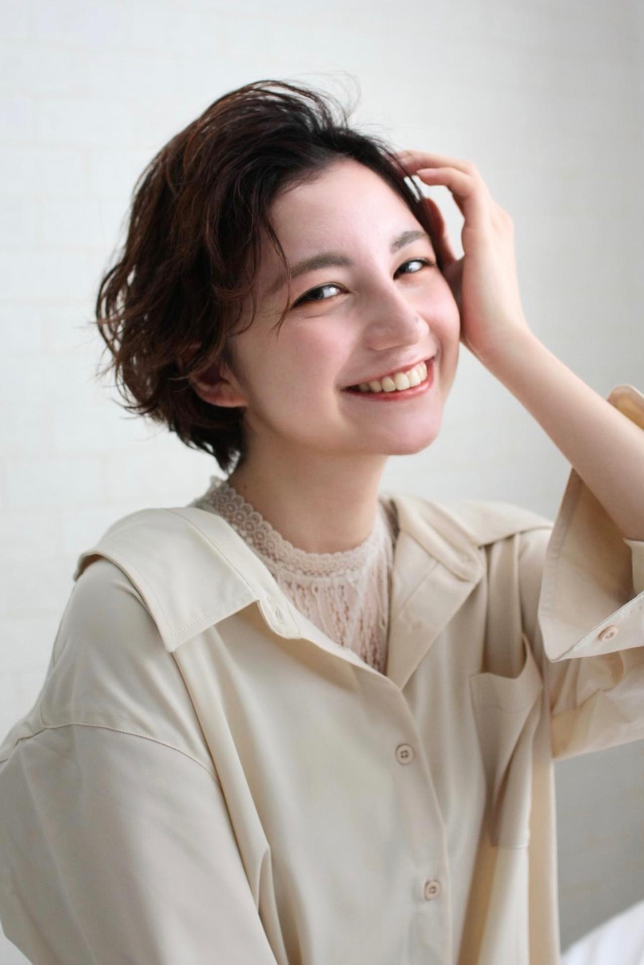 ショート パーマ 大人かわいい ショートヘア ヘアスタイルや髪型の写真・画像 | Mirai / enntaku