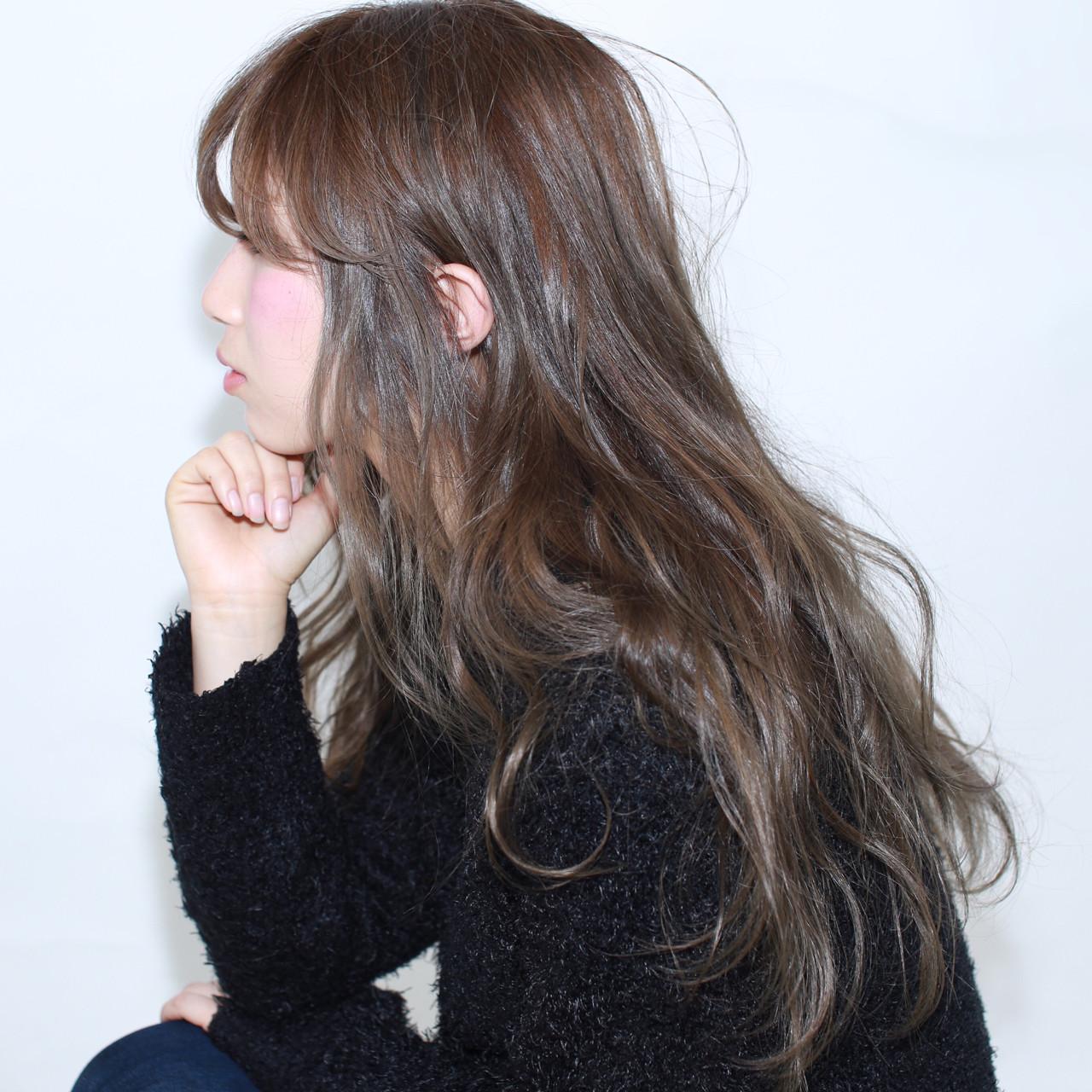ナチュラル アッシュ 暗髪 ゆるふわ ヘアスタイルや髪型の写真・画像   イマムラ スナオ / LUKE