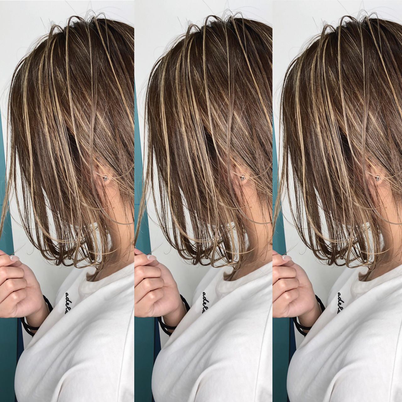 ハイライト 3Dハイライト ボブ 外国人風カラー ヘアスタイルや髪型の写真・画像   岩原 基典 / 心斎橋 laurel