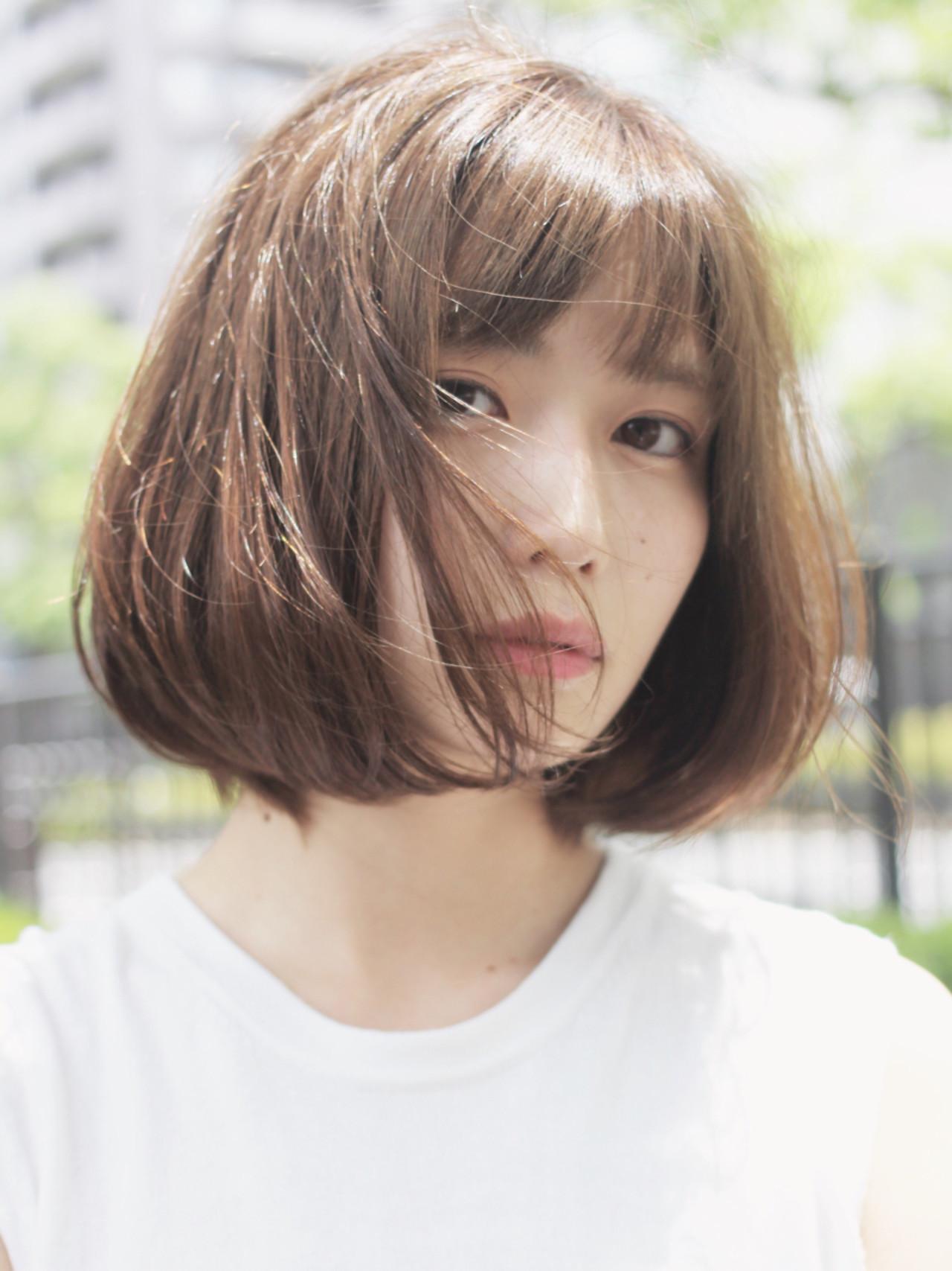 外国人風カラー 女子会 ヘアアレンジ ボブ ヘアスタイルや髪型の写真・画像