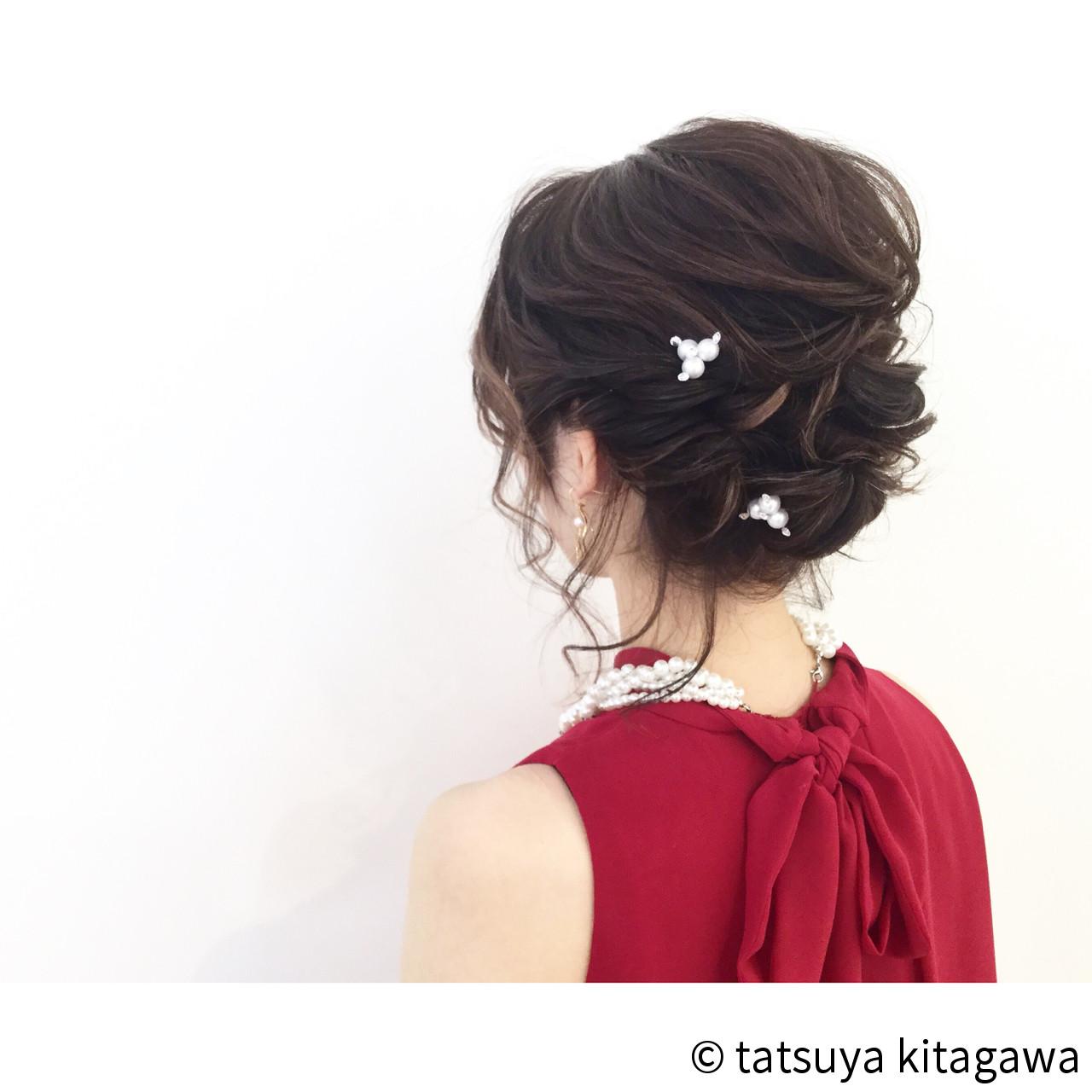 花嫁 ハイライト ミディアム 結婚式 ヘアスタイルや髪型の写真・画像