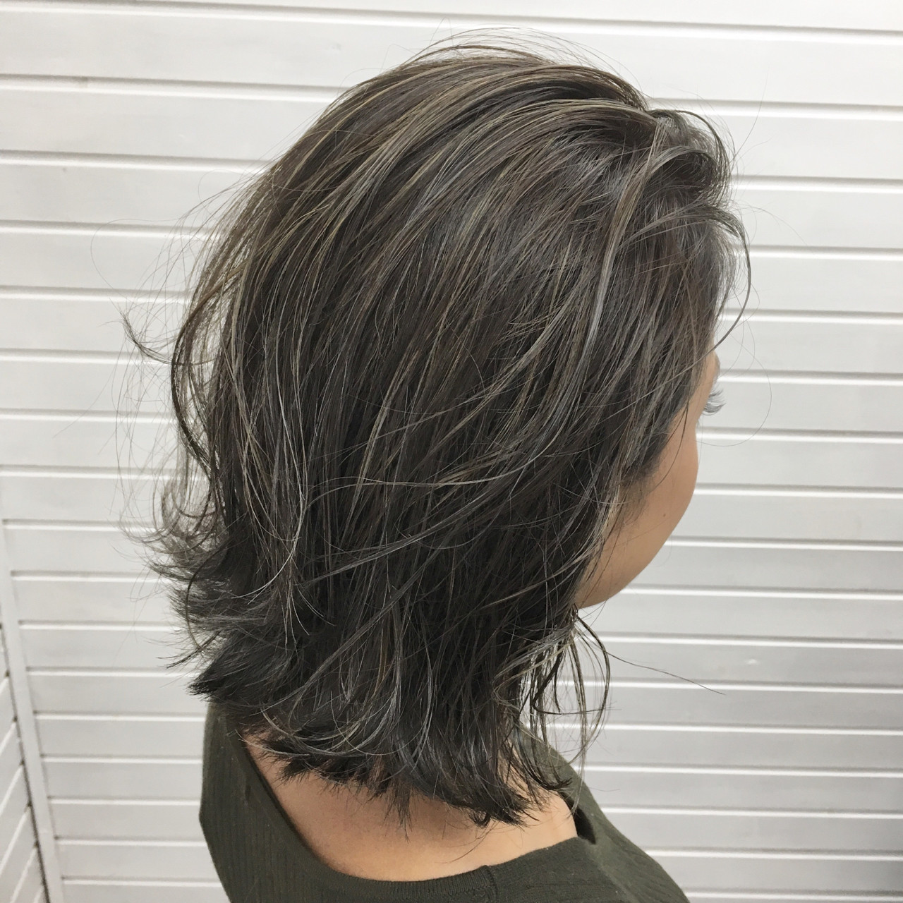 ボブ 切りっぱなし ミディアム 外国人風 ヘアスタイルや髪型の写真・画像 | universe / hair space universe