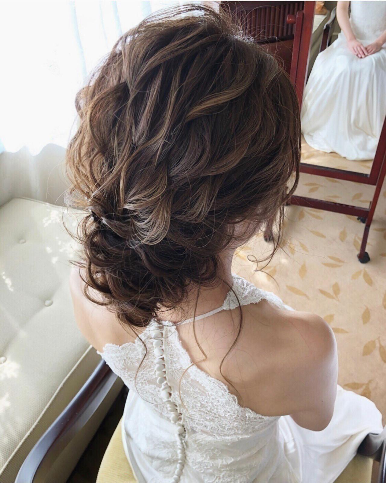 結婚式ヘアアレンジ ゆるナチュラル ヘアアレンジ ナチュラル ヘアスタイルや髪型の写真・画像