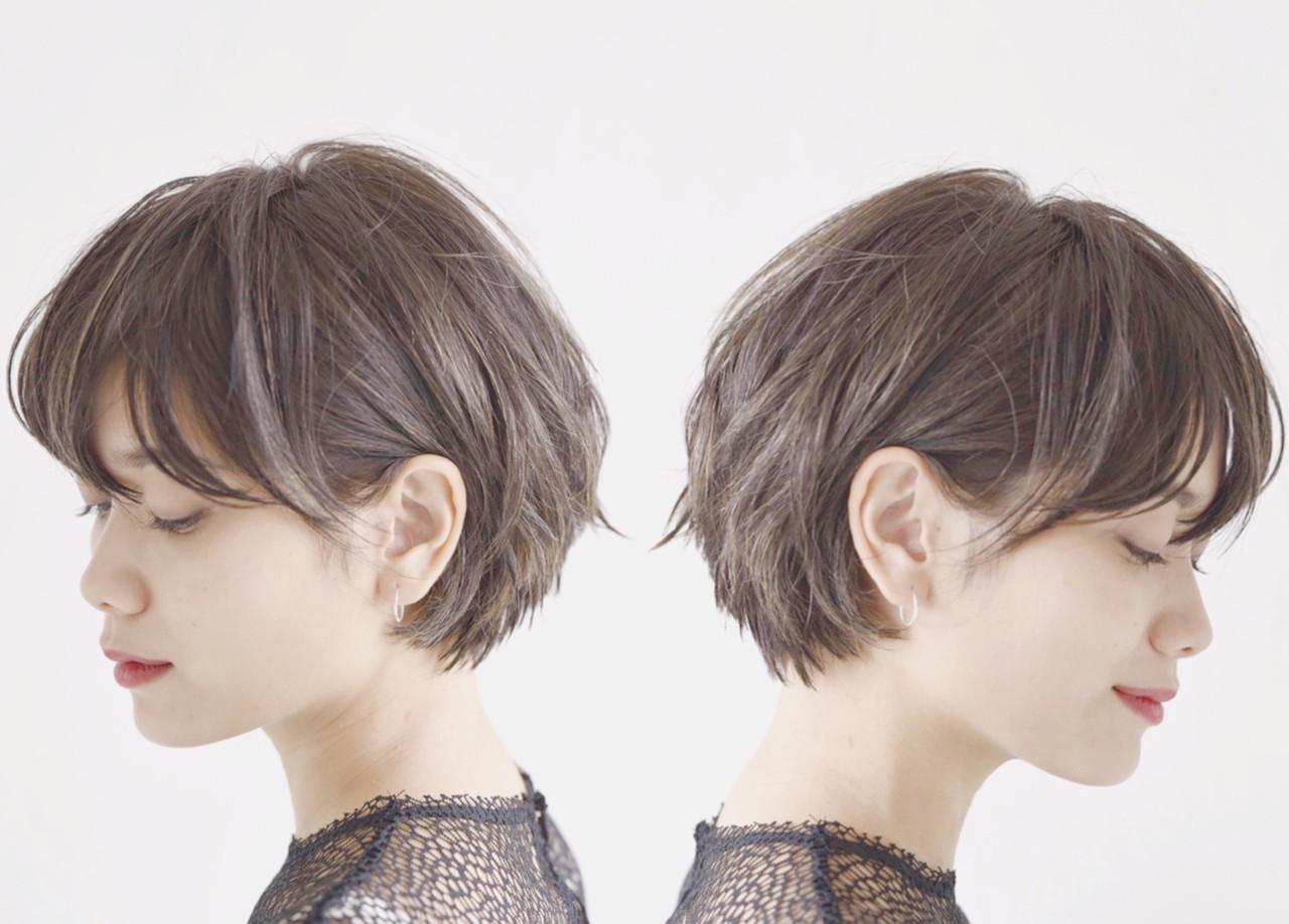 パーマ オフィス デート 黒髪 ヘアスタイルや髪型の写真・画像 | ショートヘア美容師 #ナカイヒロキ / 『send by HAIR』