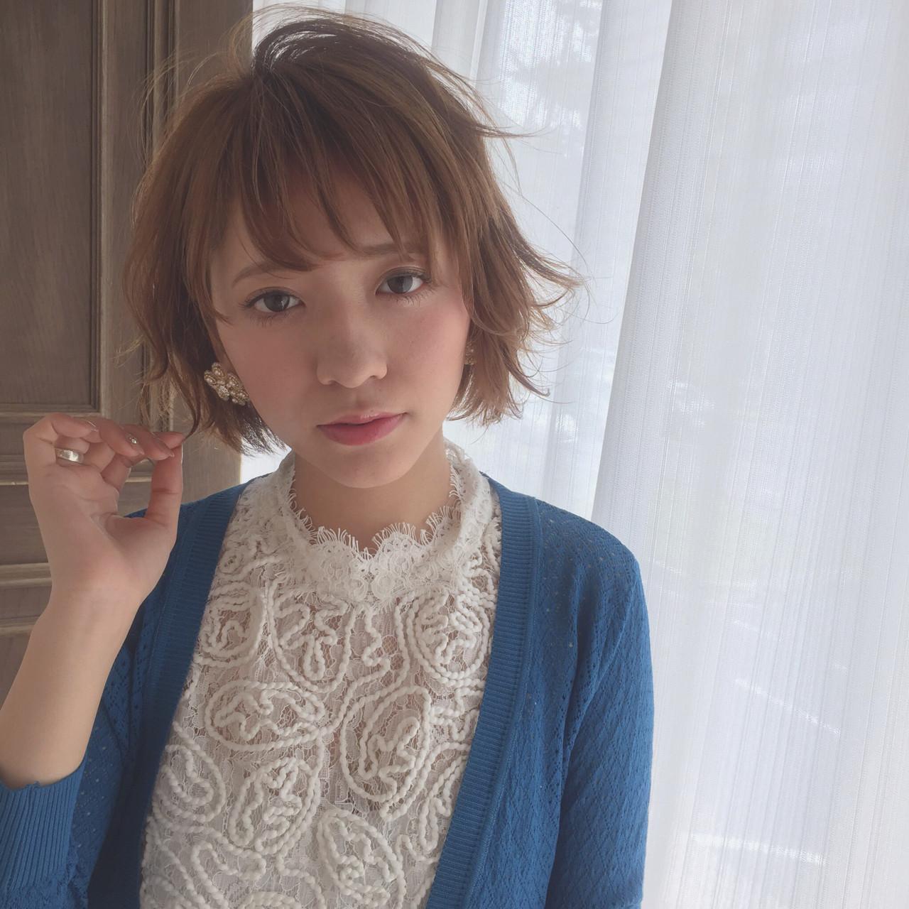 ラフ ショート ニュアンス 小顔 ヘアスタイルや髪型の写真・画像 | 土佐風花 / Le ciel 梅田店