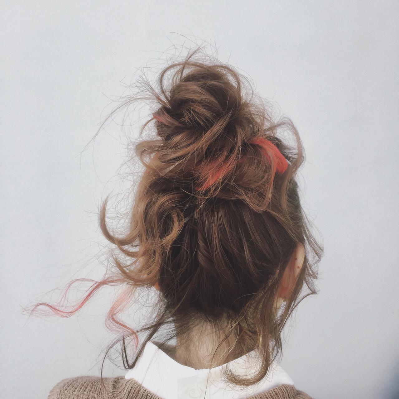 ヘアアレンジ お団子 外国人風 ボブ ヘアスタイルや髪型の写真・画像