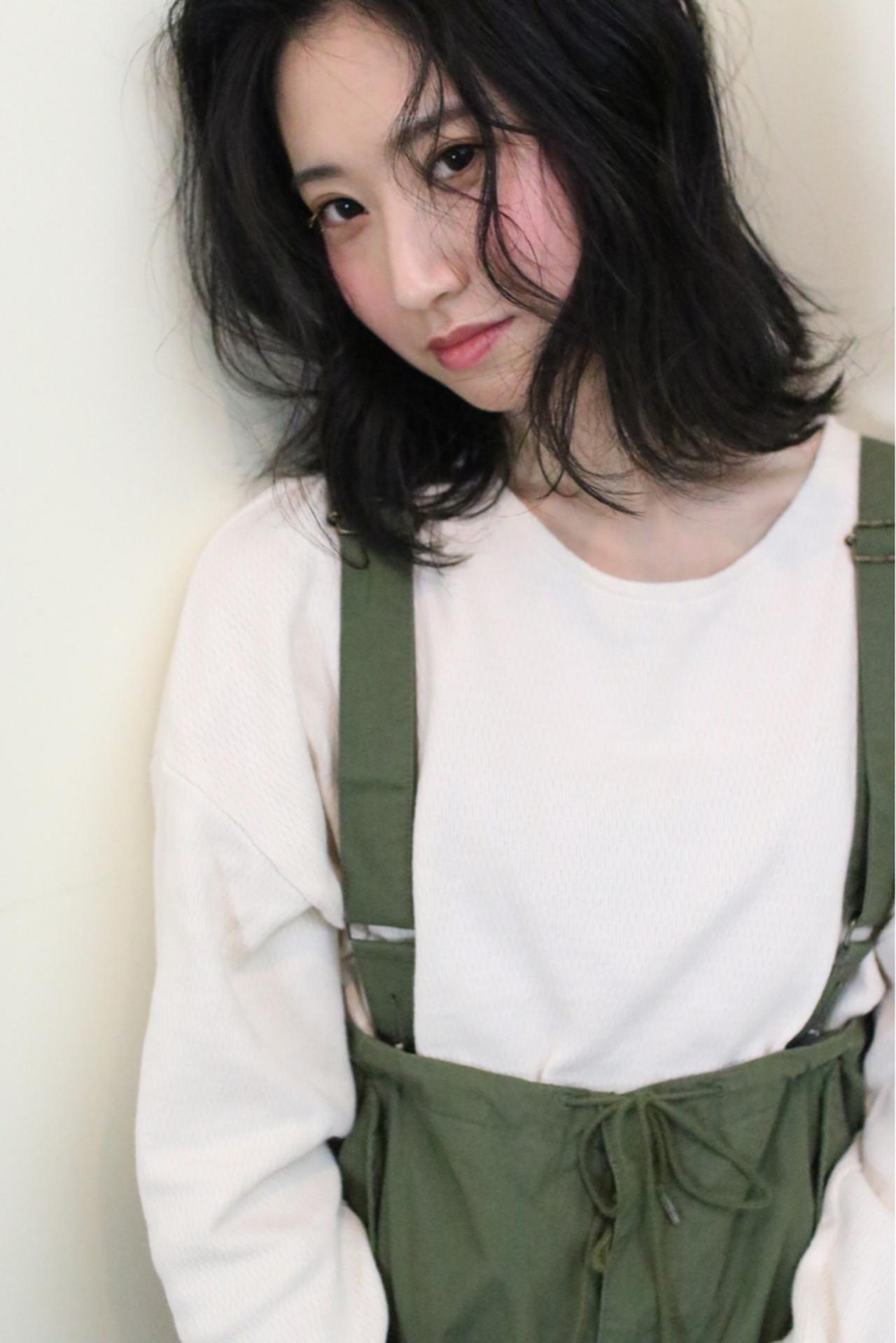 大人かわいい アウトドア ゆるふわ ミディアム ヘアスタイルや髪型の写真・画像 | yumiko/sapporoSKNOW / SKNOW