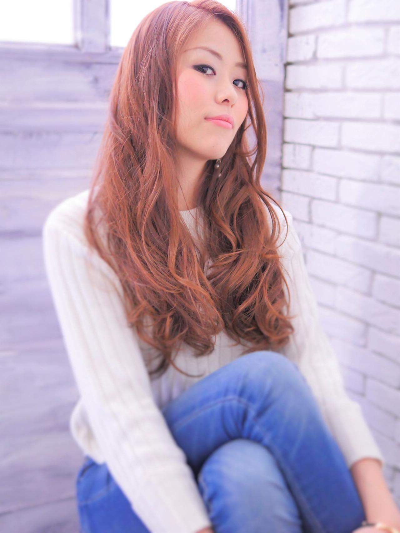 フェミニン ブラウン 外国人風 大人かわいい ヘアスタイルや髪型の写真・画像