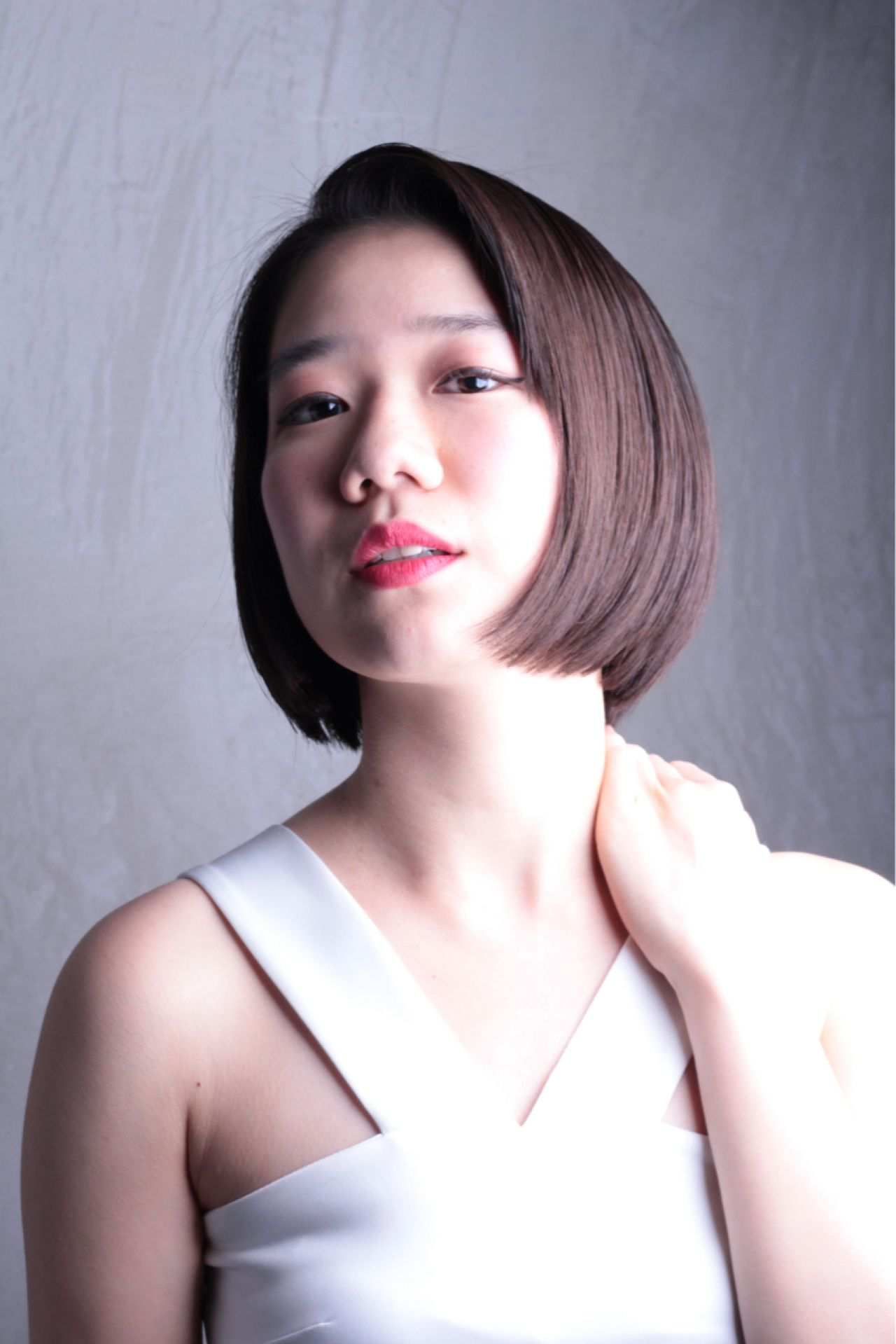 コンサバ 卵型 ボブ こなれ感 ヘアスタイルや髪型の写真・画像 | 仲井 翼 / Luxera hair&este