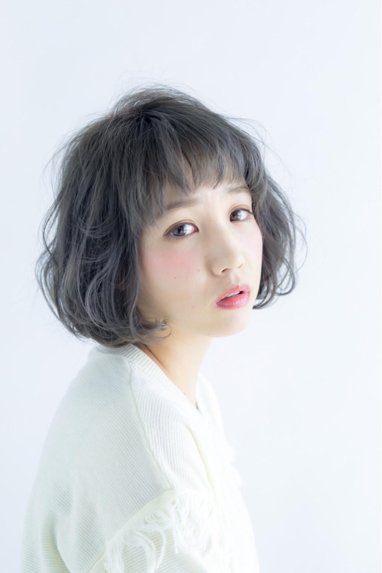冬 ボブ ナチュラル 外国人風カラー ヘアスタイルや髪型の写真・画像   三上 奈巳 / Spin hair 烏丸店