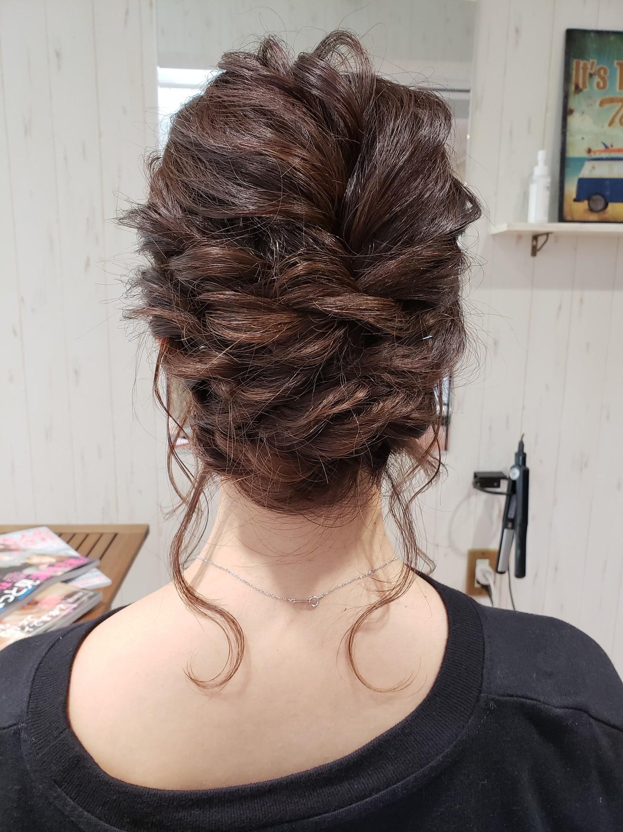 結婚式 ヘアアレンジ イルミナカラー フェミニン ヘアスタイルや髪型の写真・画像 | 菅原匠 / Hair&Nail anchor by Laf