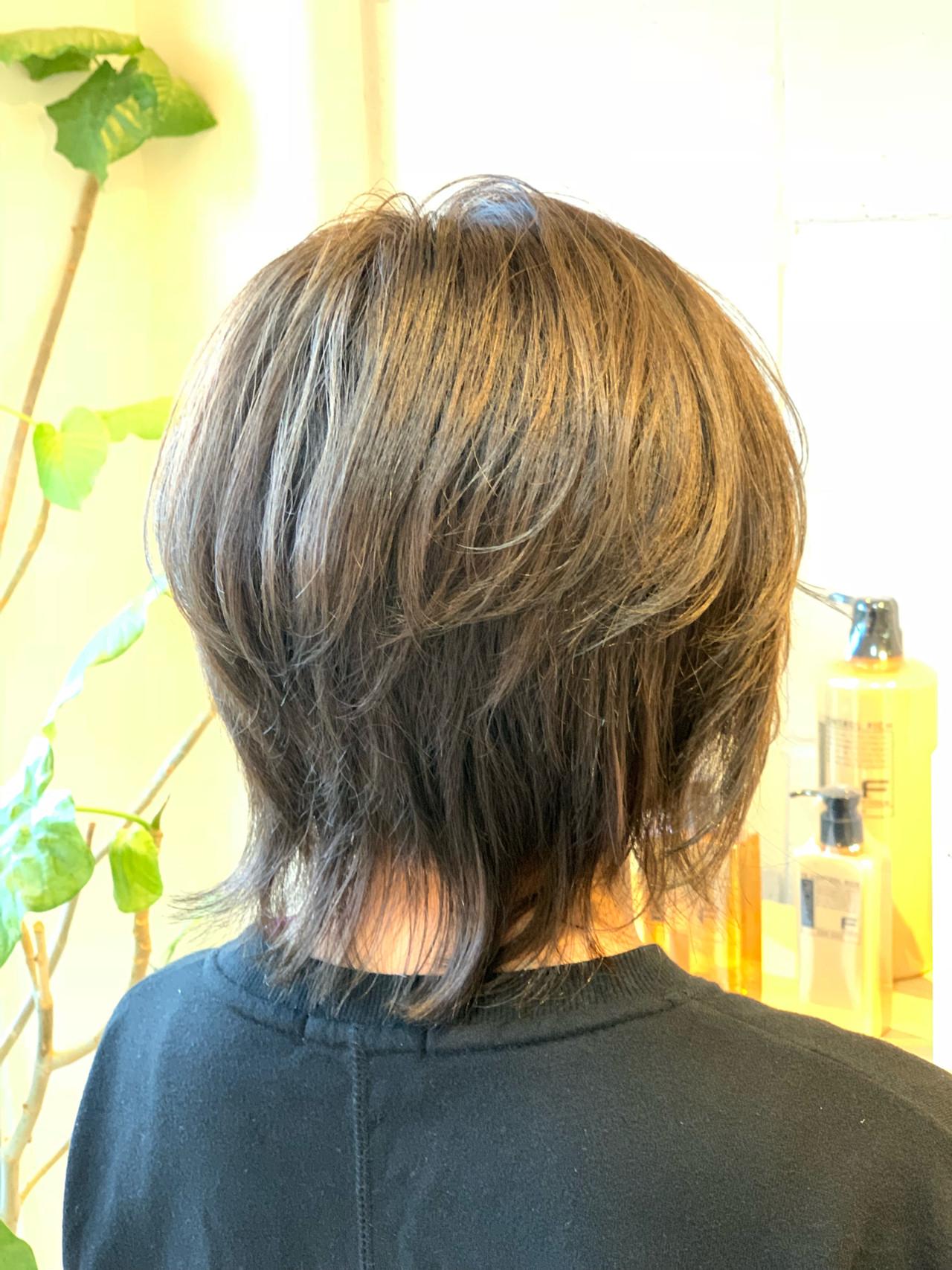 グラデーションカラー ウルフカット ストリート ブリーチカラー ヘアスタイルや髪型の写真・画像 | Hatori Masaki / rela hair salon