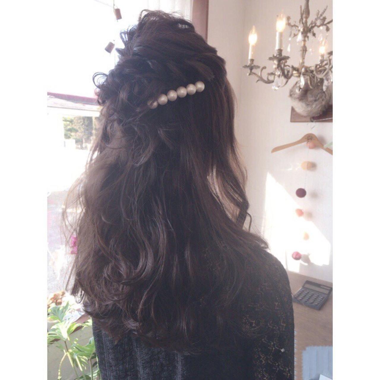 編み込み ナチュラル 結婚式 ショート ヘアスタイルや髪型の写真・画像 | 川内道子 instagram→michiko_k / Noelle インスタ→michiko_k