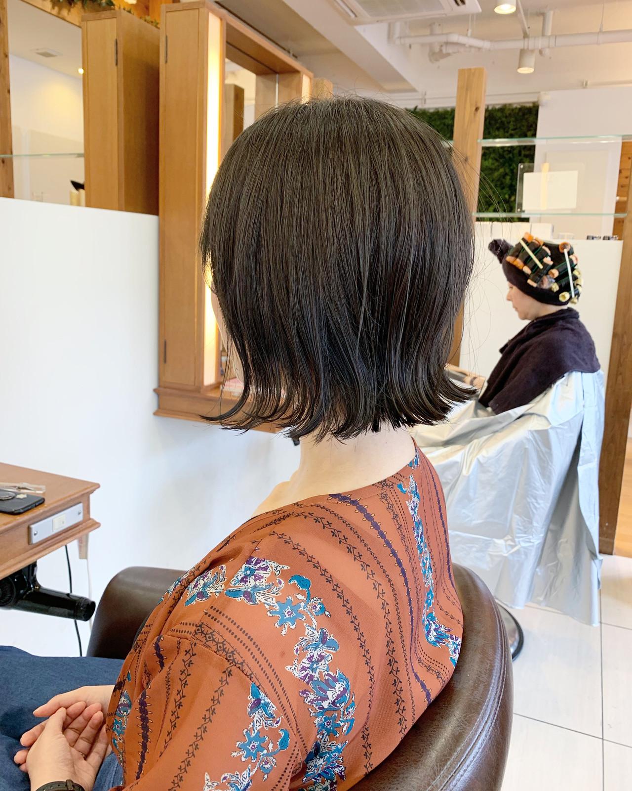 前下がりボブ 大人可愛い ショート レイヤーボブ ヘアスタイルや髪型の写真・画像