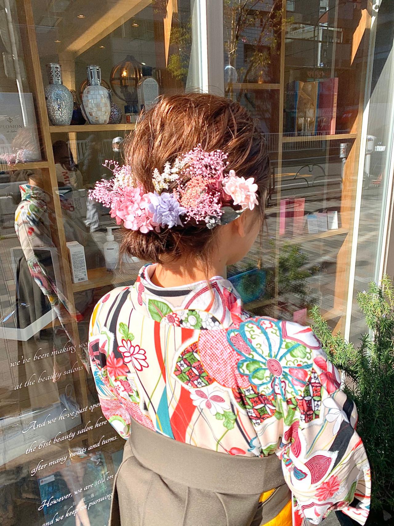 ミディアム ガーリー 結婚式ヘアアレンジ ボブアレンジ ヘアスタイルや髪型の写真・画像   ナチュラル/エッジ ⚡️西川 渉 / neolive&