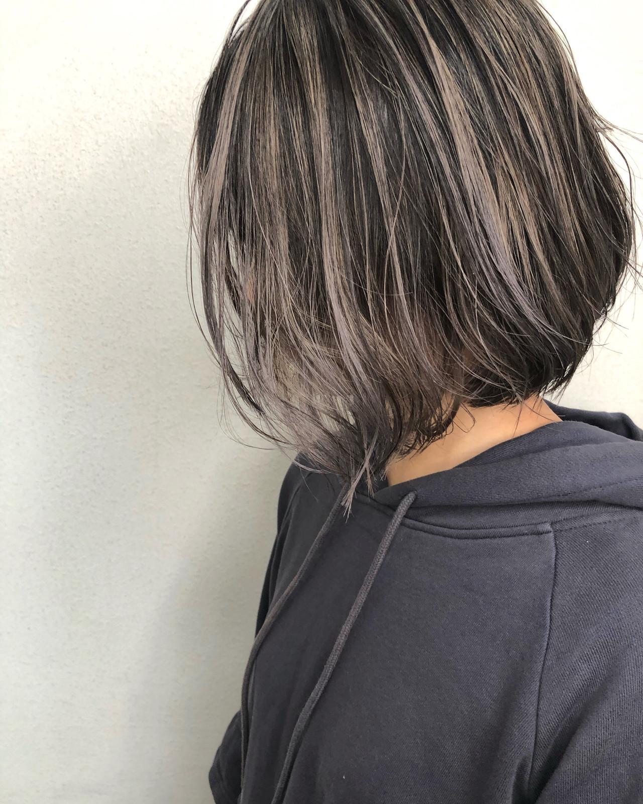 ボブ デザインカラー ストリート 3Dハイライト ヘアスタイルや髪型の写真・画像 | 佐藤タカヒロ / Gritter