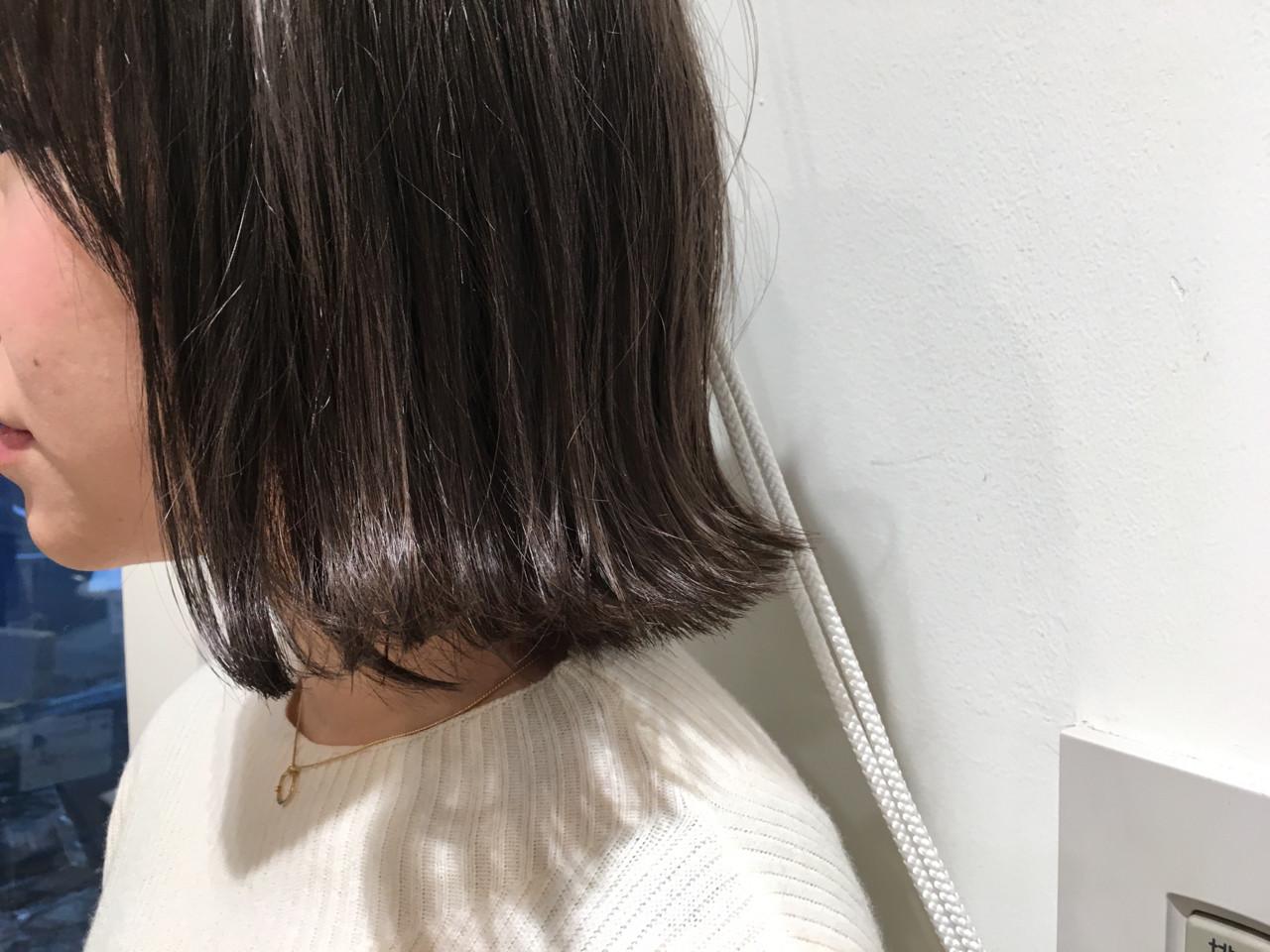 外ハネ 外国人風カラー 外国人風 ボブ ヘアスタイルや髪型の写真・画像