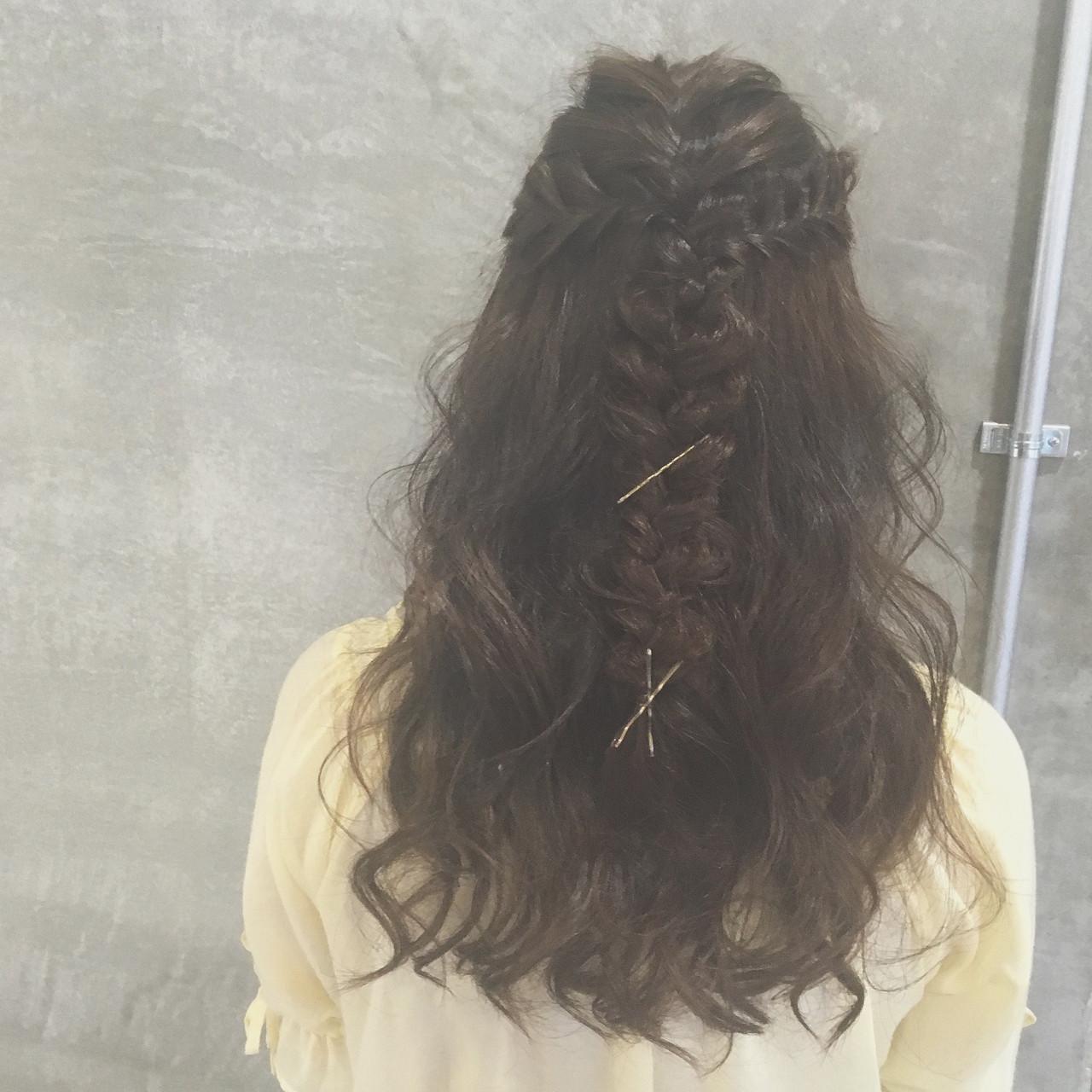 ヘアアレンジ 外国人風 ロング ゆるふわ ヘアスタイルや髪型の写真・画像
