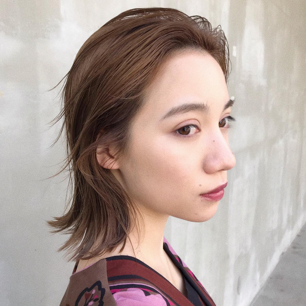 デート ハイライト ロブ 大人かわいい ヘアスタイルや髪型の写真・画像