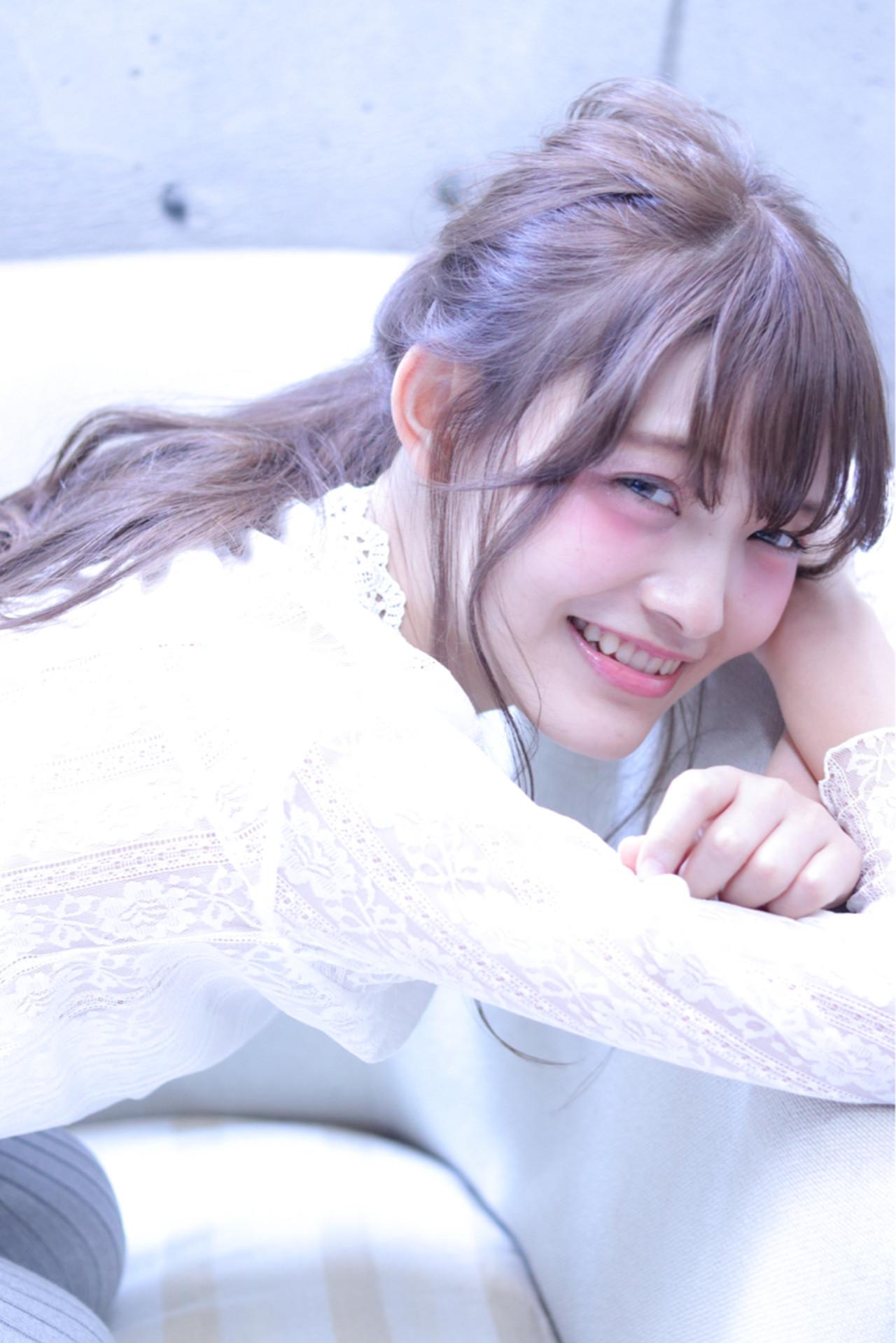 ロング デート おフェロ 簡単ヘアアレンジ ヘアスタイルや髪型の写真・画像 | Wataru Maeda / cache cache
