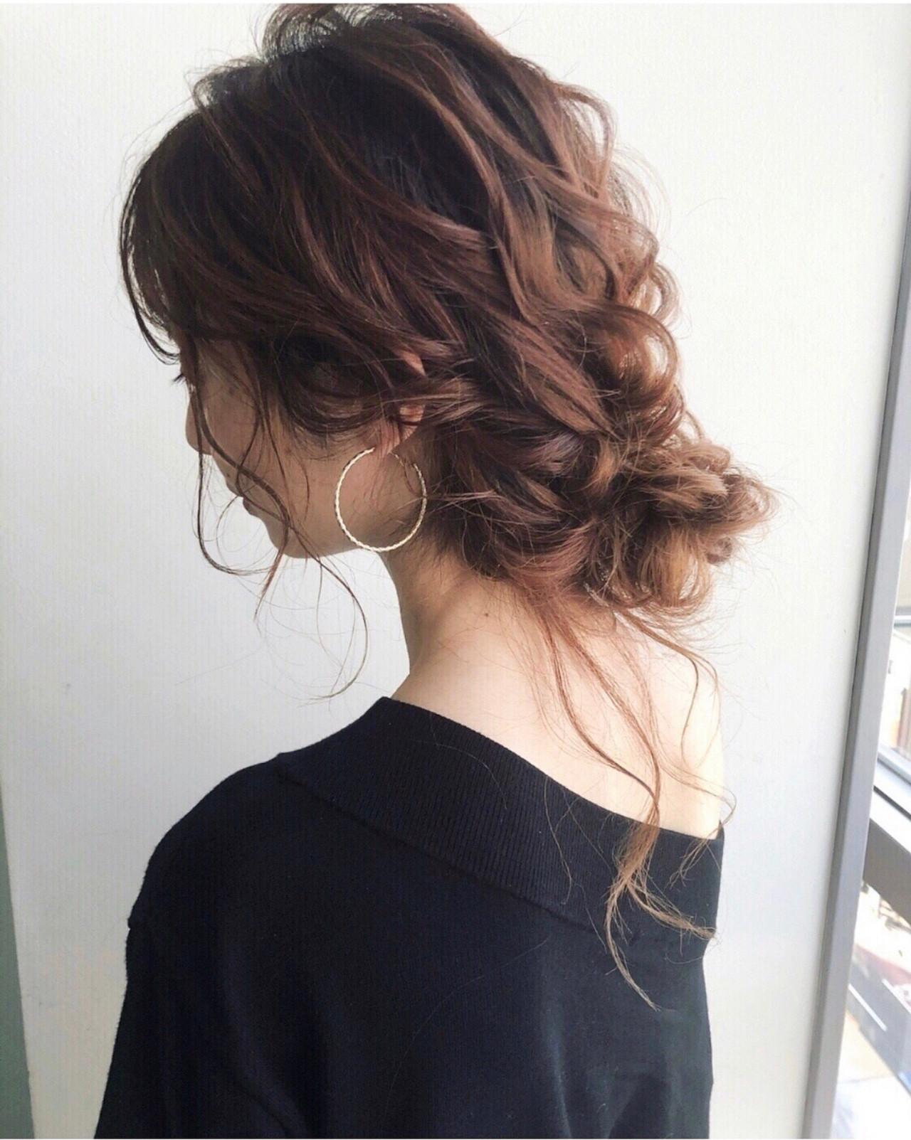 フェミニン ヘアアレンジ おしゃれさんと繋がりたい 大人かわいい ヘアスタイルや髪型の写真・画像